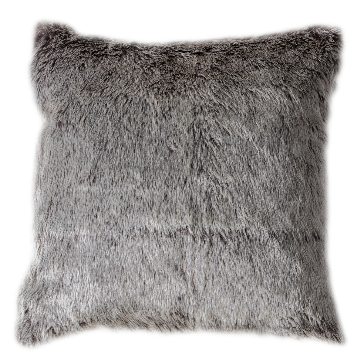 Eskimo Wolf Faux Fur Scatter Cushion, Chocolate