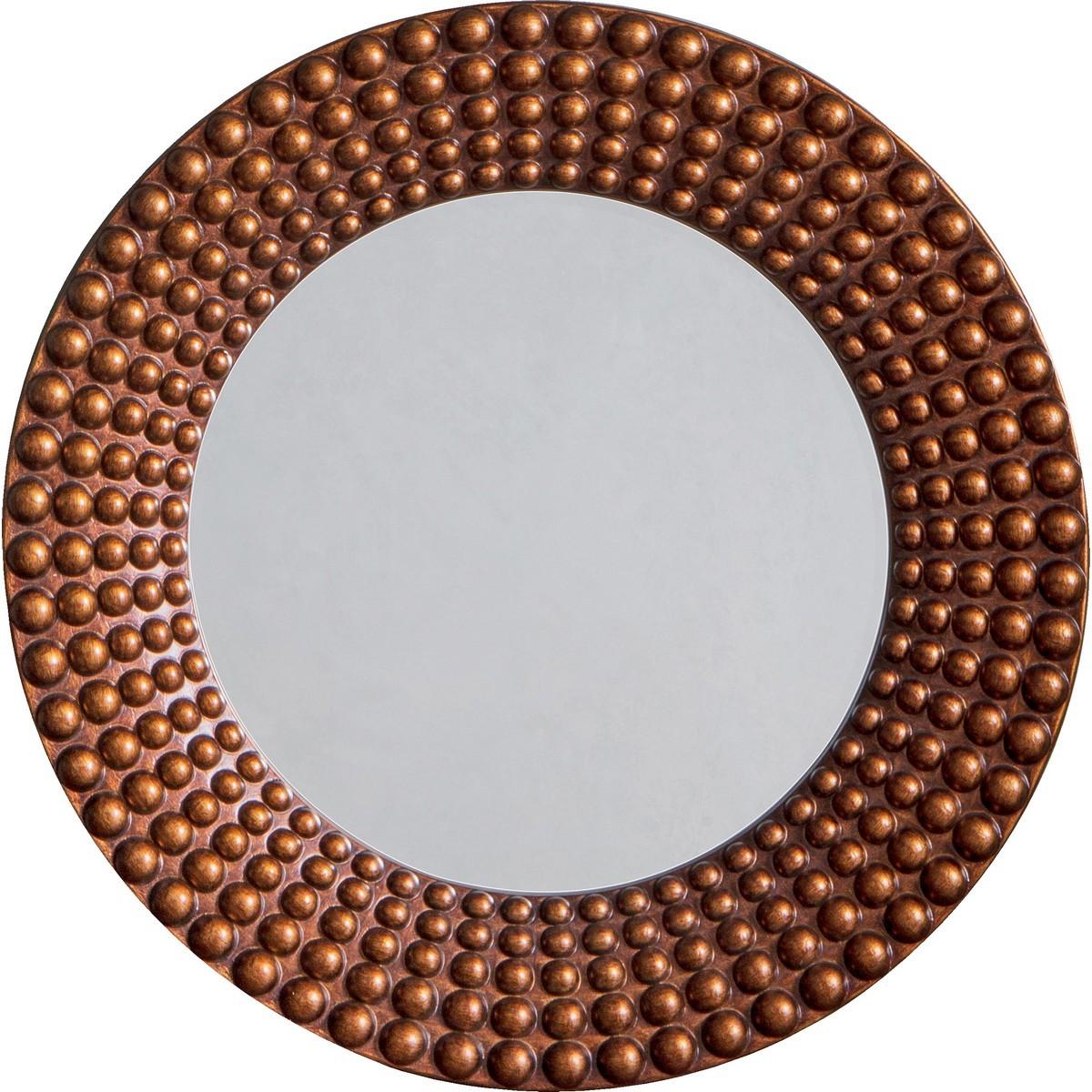 Claudia Round Wall Mirror, 91cm, Bronze