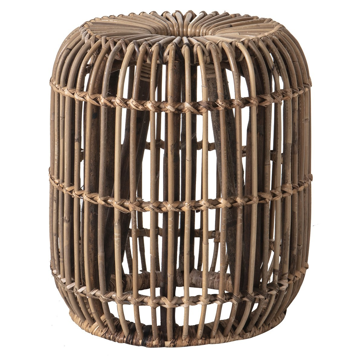 Dixie Rattan Round Side Table, Small, Natural