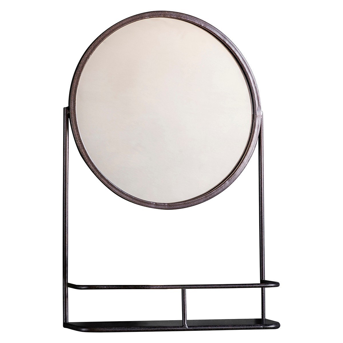 Eve Iron Frame Wall Mirror, Round, 63cm