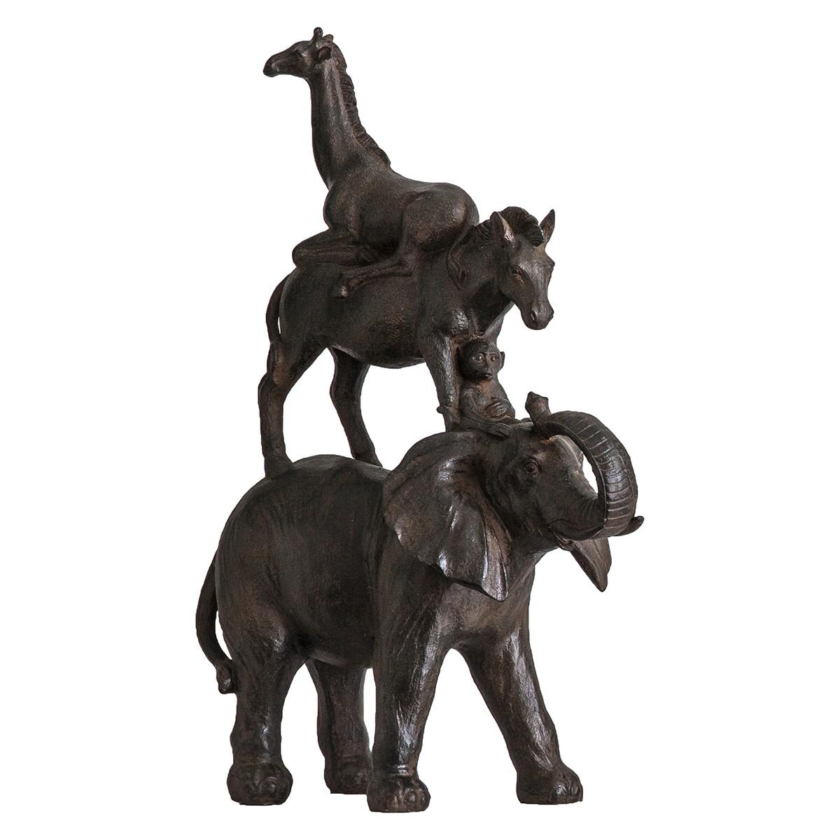 Gandi Animal Pyramid Statue