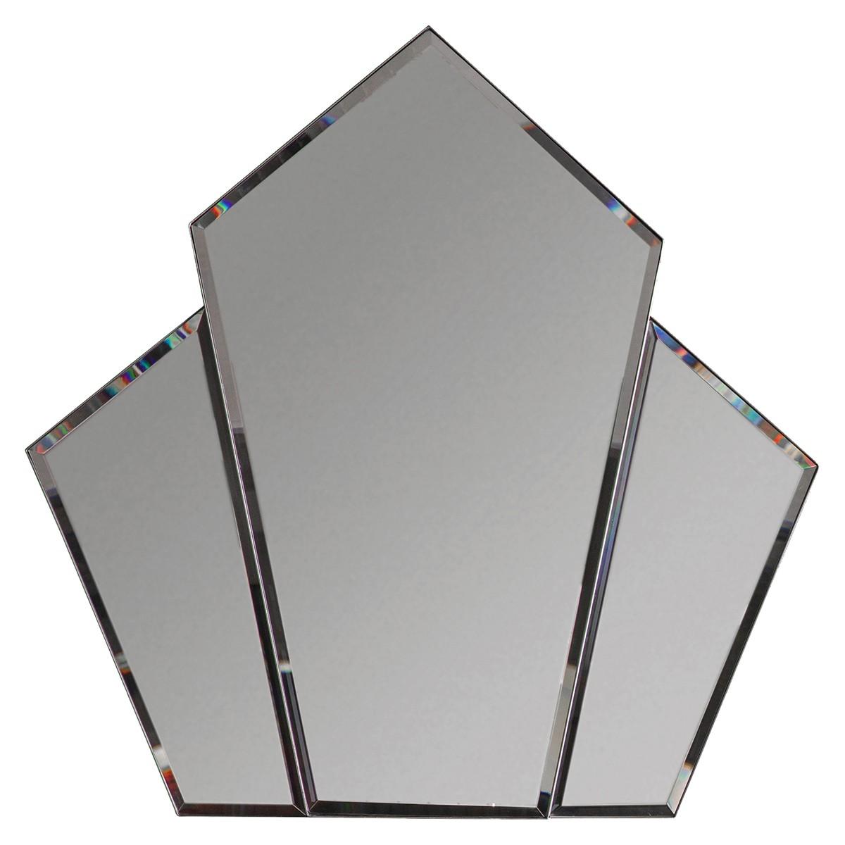 Vinny Metal Frame Wall Mirror, 100cm, Silver