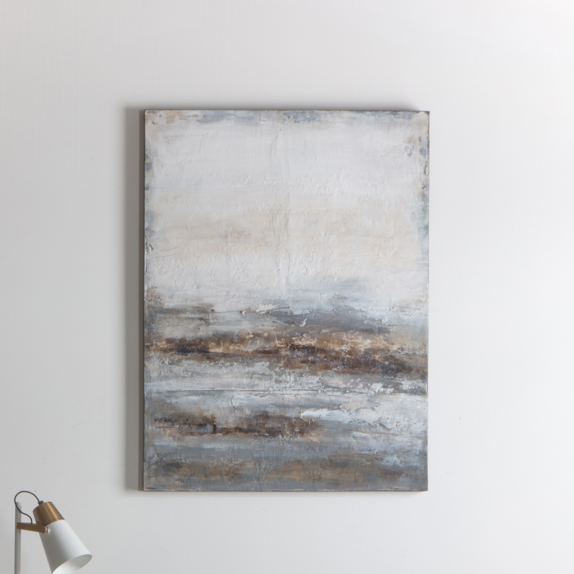 Seafoam Hand Painted Canvas Wall Art, Dusk, 120cm
