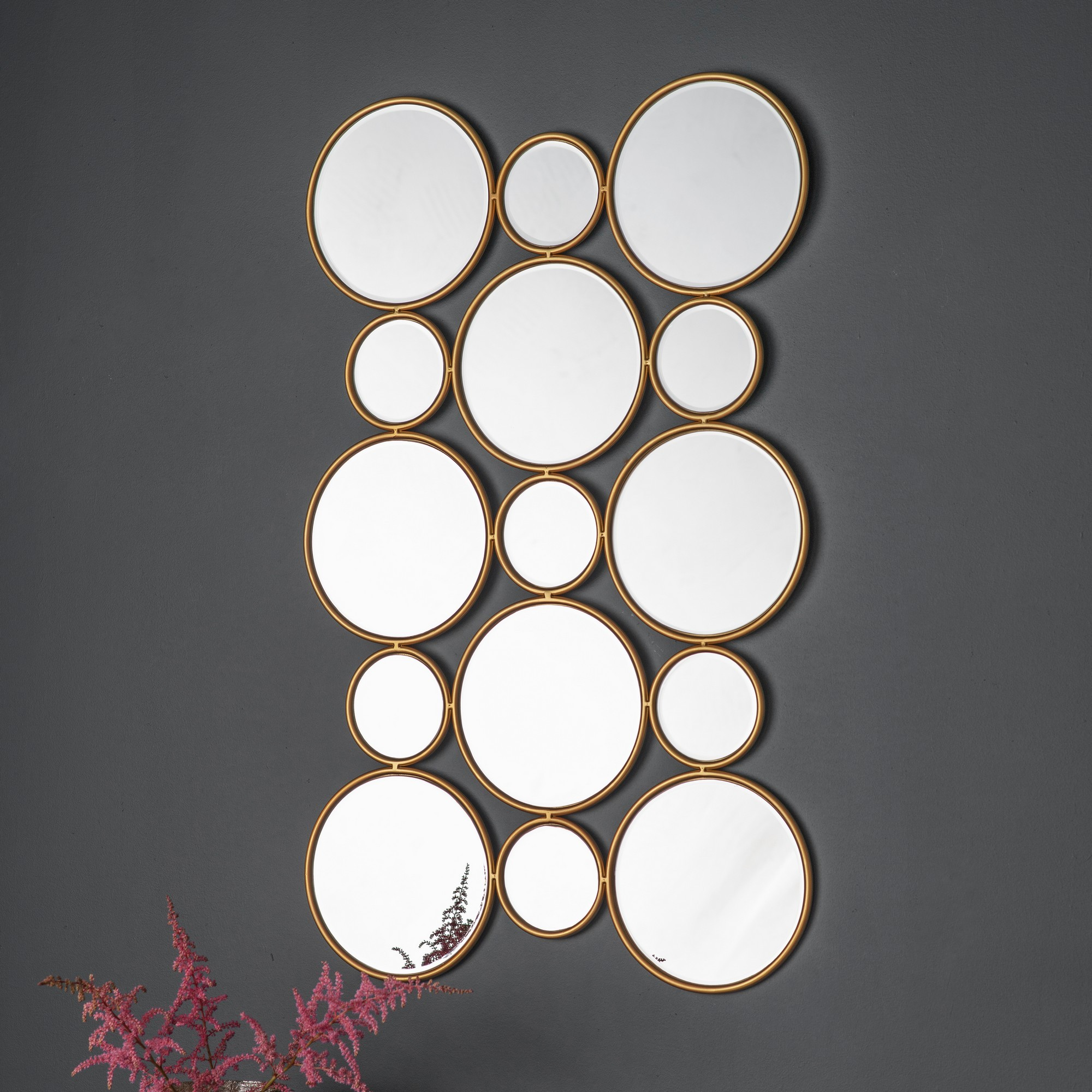 Lysa Circles Wall Mirror, 90cm
