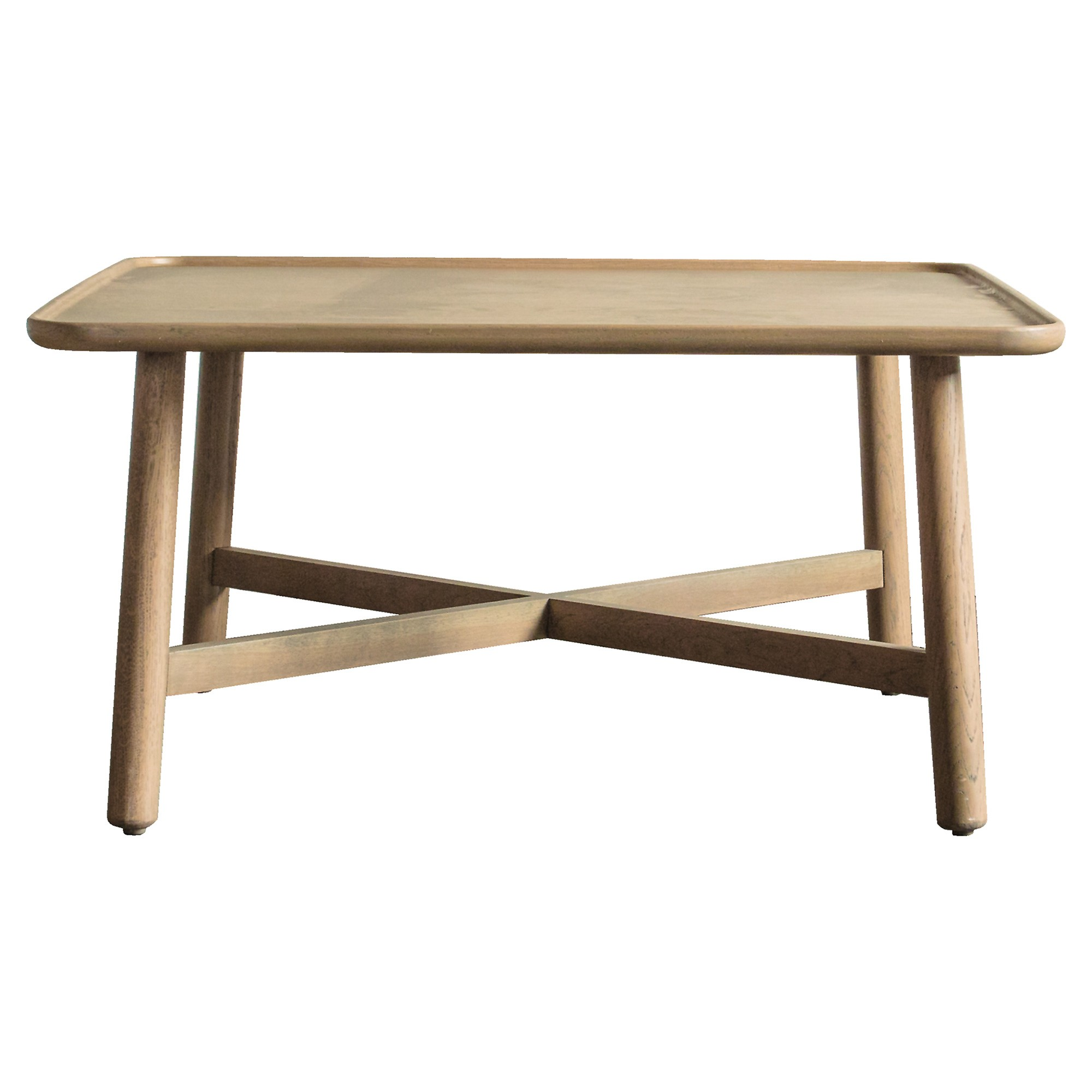 Kingham European Oak Timber Square Coffee Table, 80cm