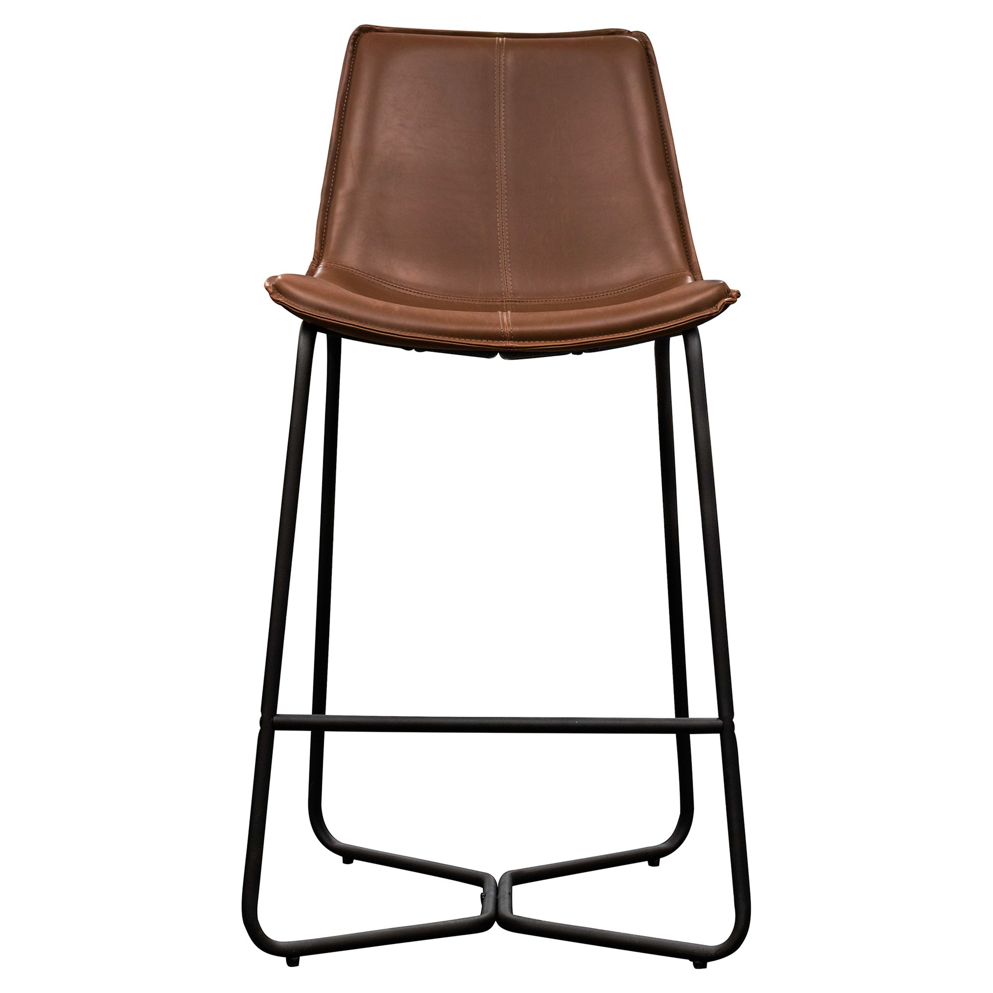 Hawking Faux Leather Counter Stool, Brown