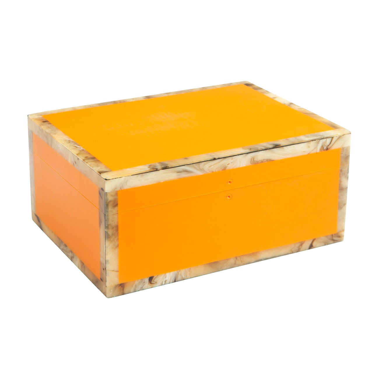 Harlow Nesting Storage Box, Medium, Orange