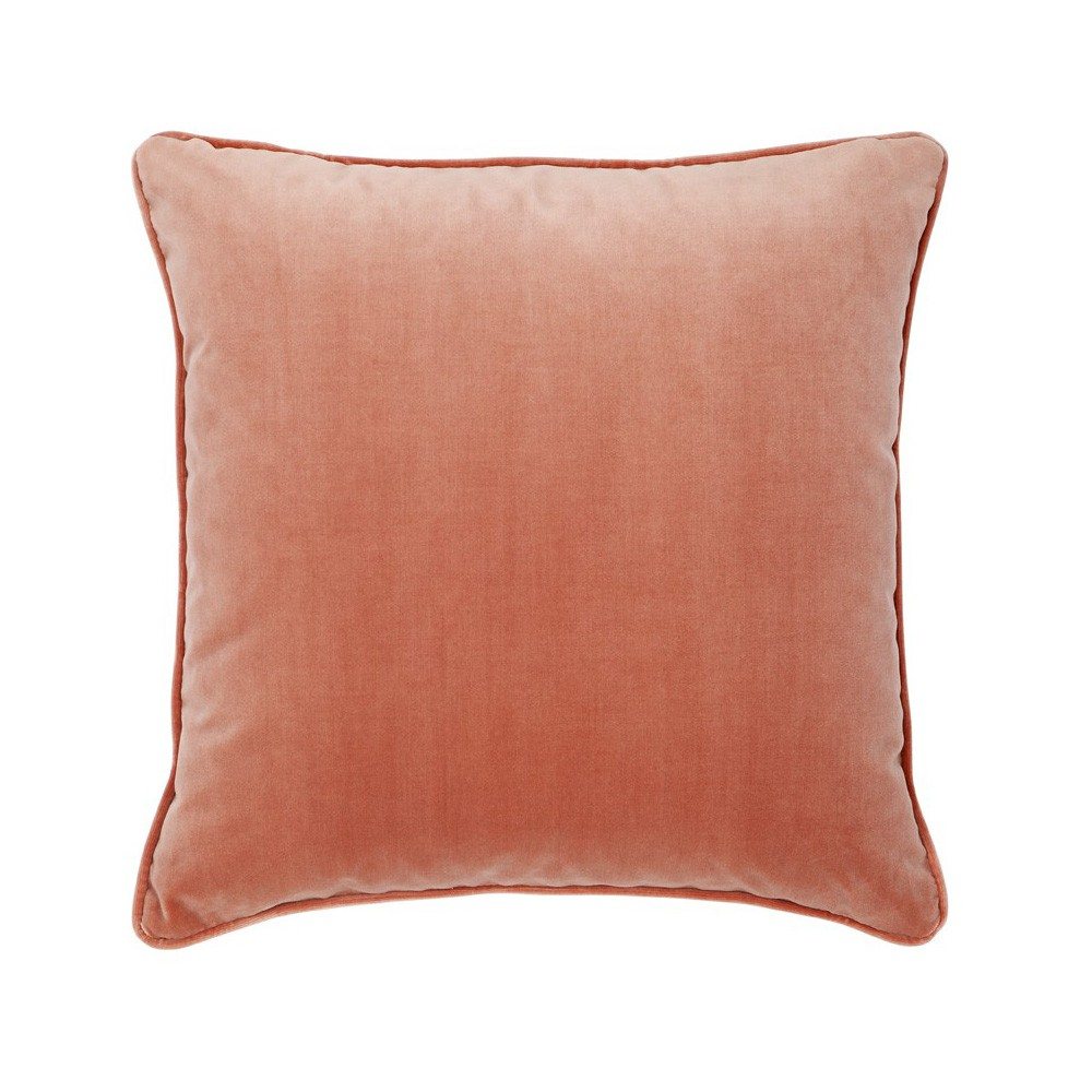Leah Feather Filled Velvet Scatter Cushion, Blush