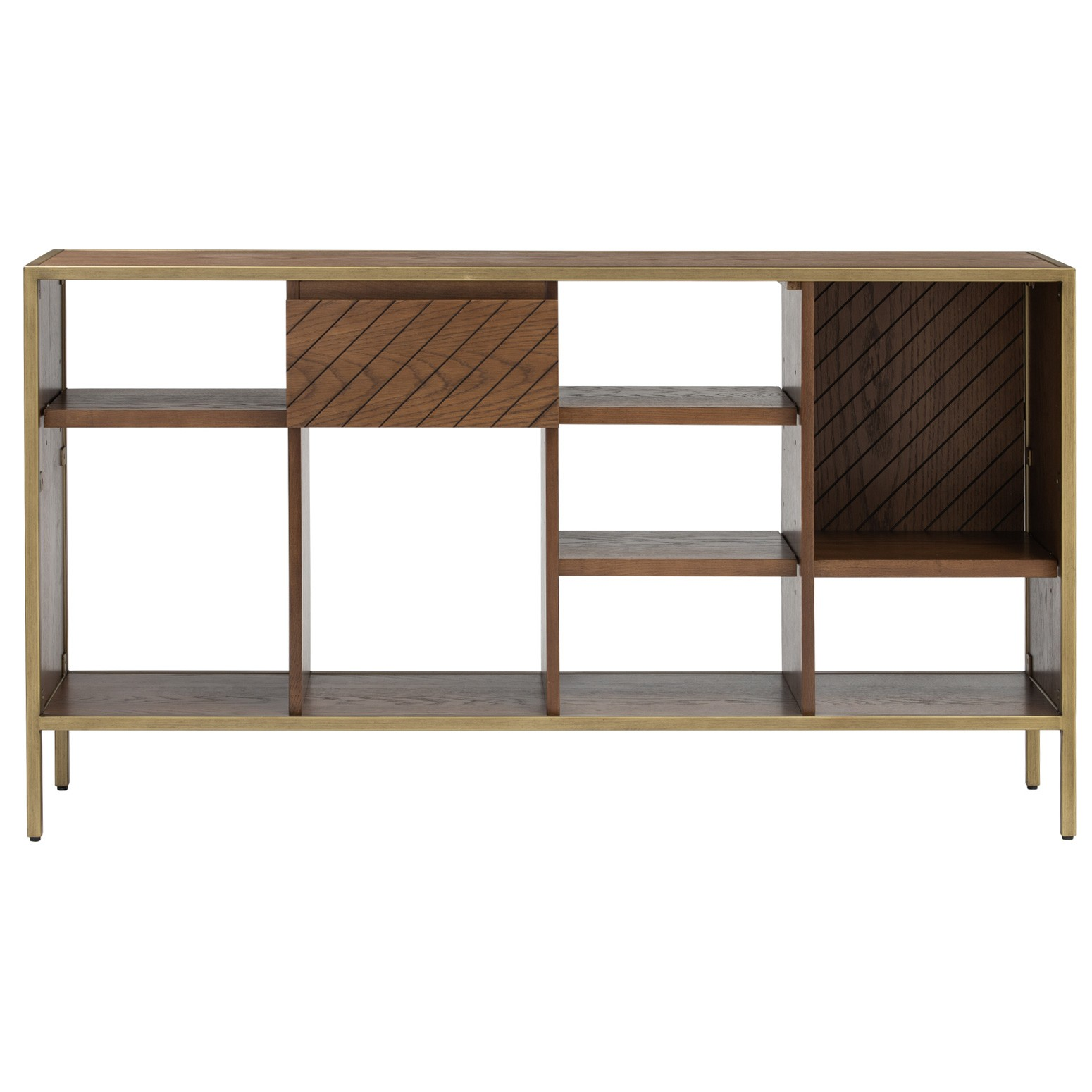Willingham Wood & Metal Low Bookcase / Display Shelf