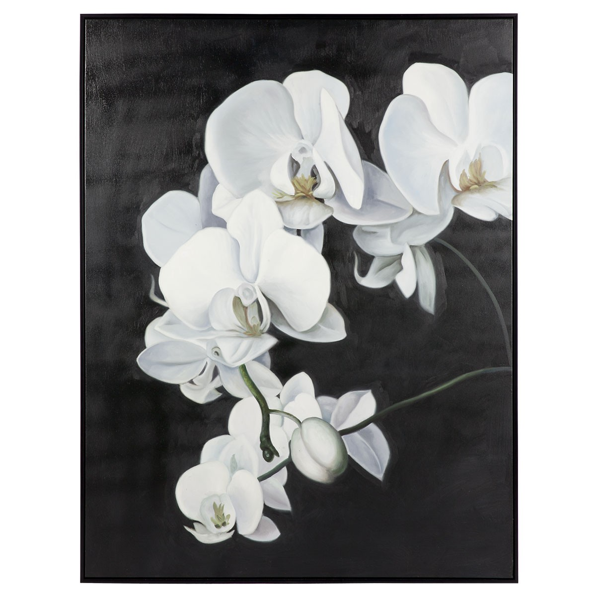 Orchid Framed Hand Painted Canvas Wall Art, 130cm