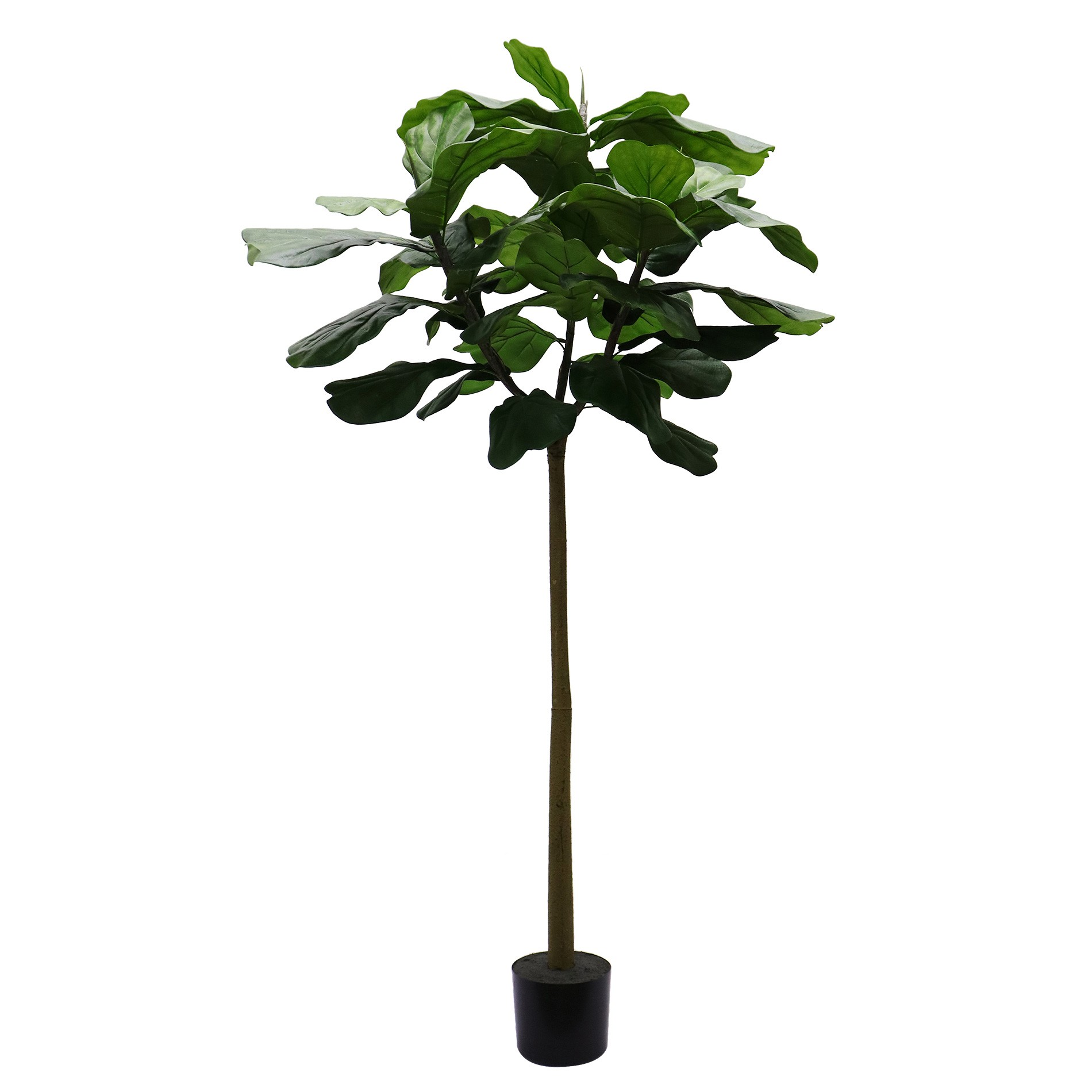 Potted Artificial Fiddle Leaf Fig Tree, 180cm