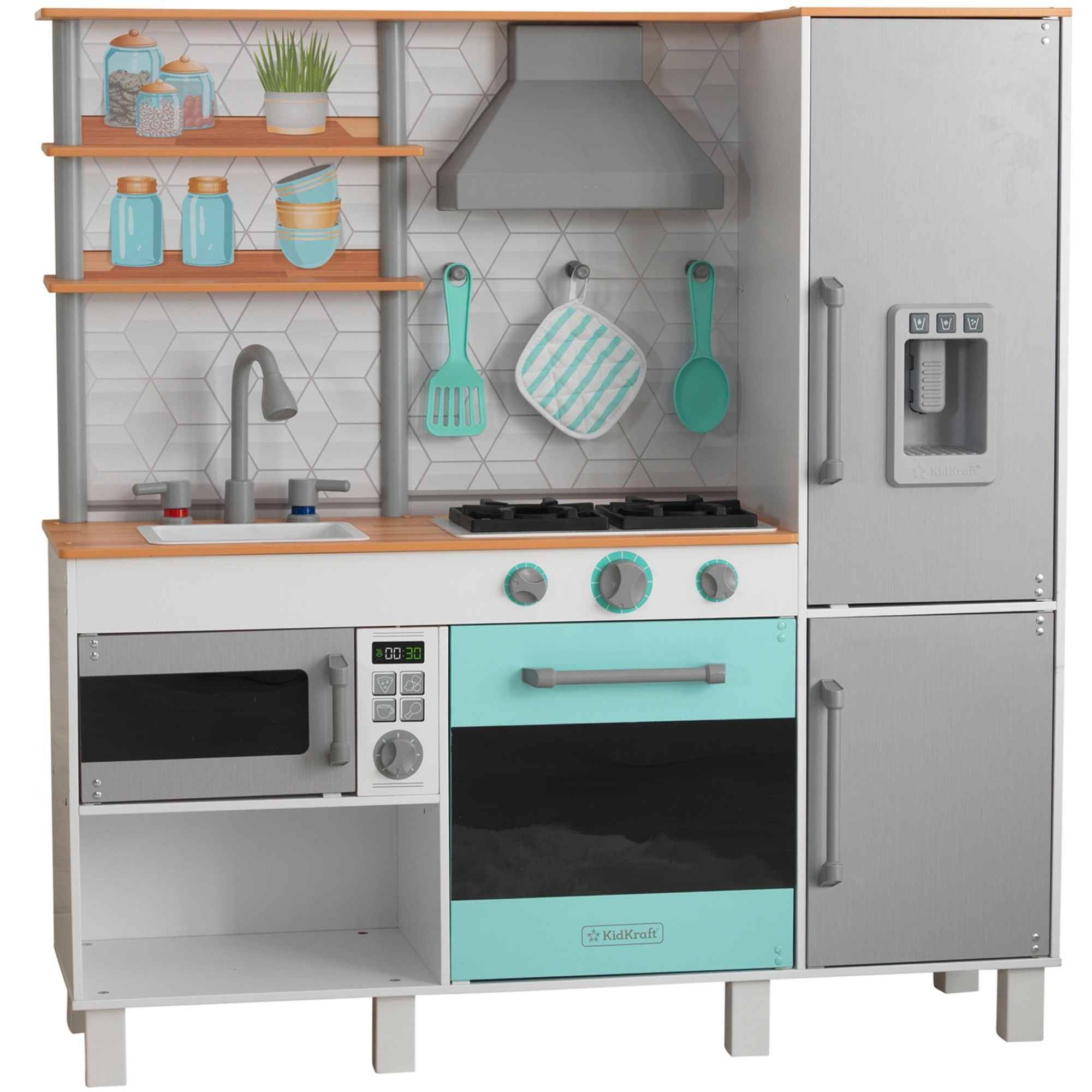 KidKraft Gourmet Chef Play Kitchen with EZ Kraft Assembly