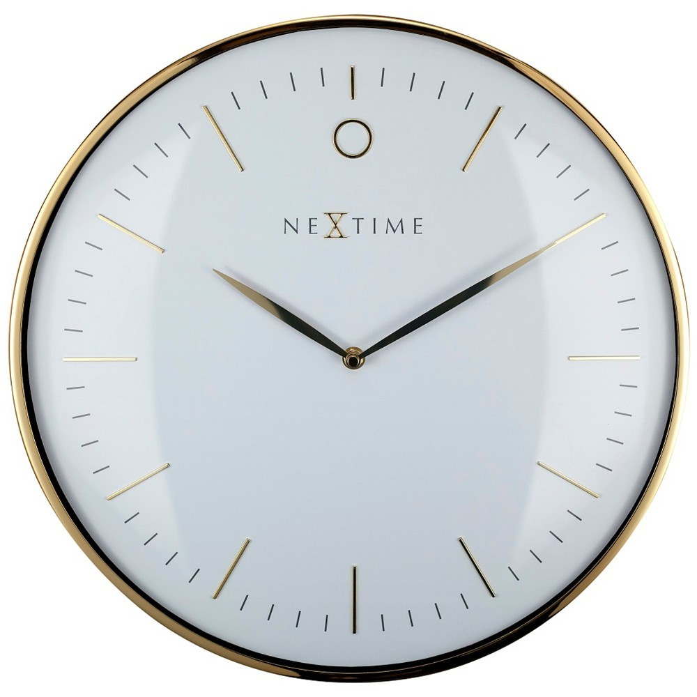 Nextime Glamour Metal Round Wall Clock, 30cm