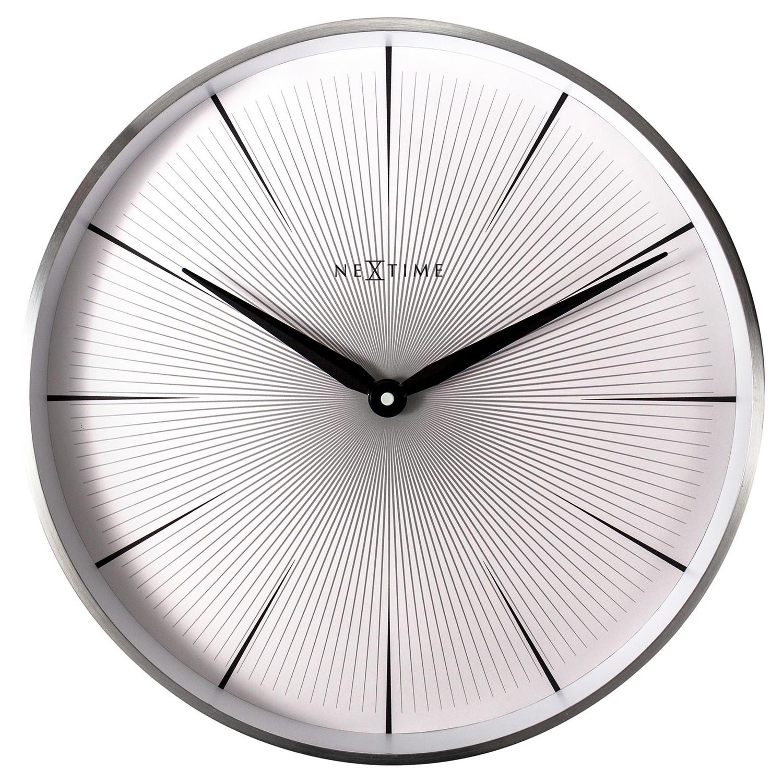 NeXtime 2 Seconds Metal Frame Wall Clock, 40cm, White