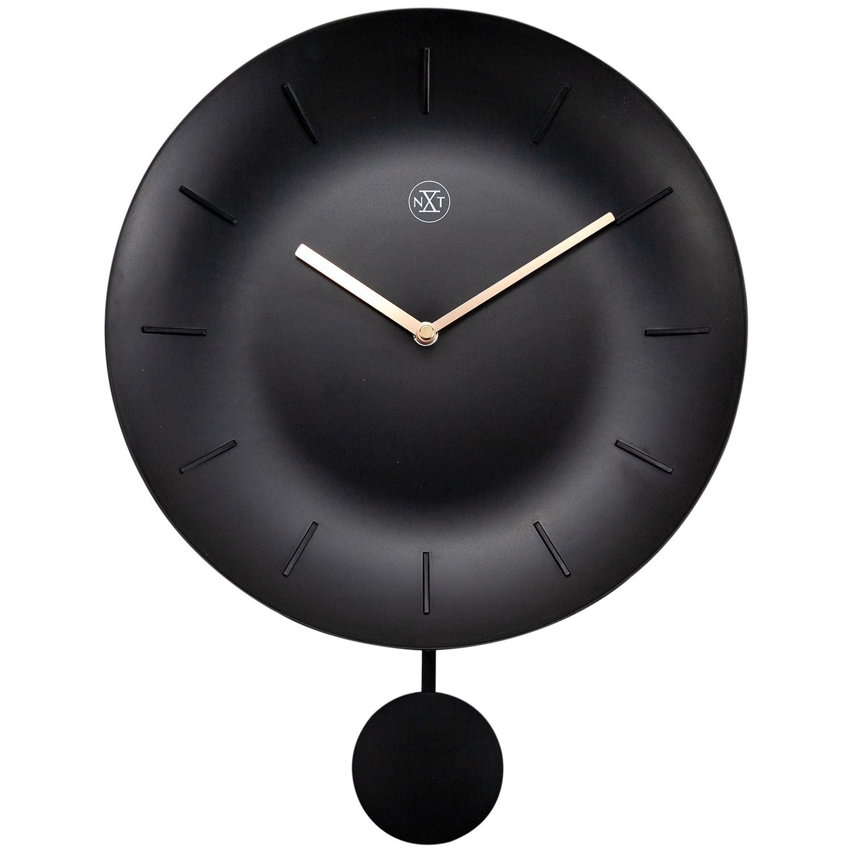 NeXtime Bowl Wall Clock, 30cm, Black