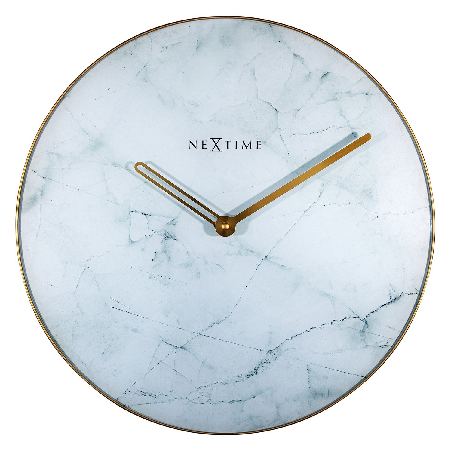 NeXtime Marble Wall Clock, 40cm, White