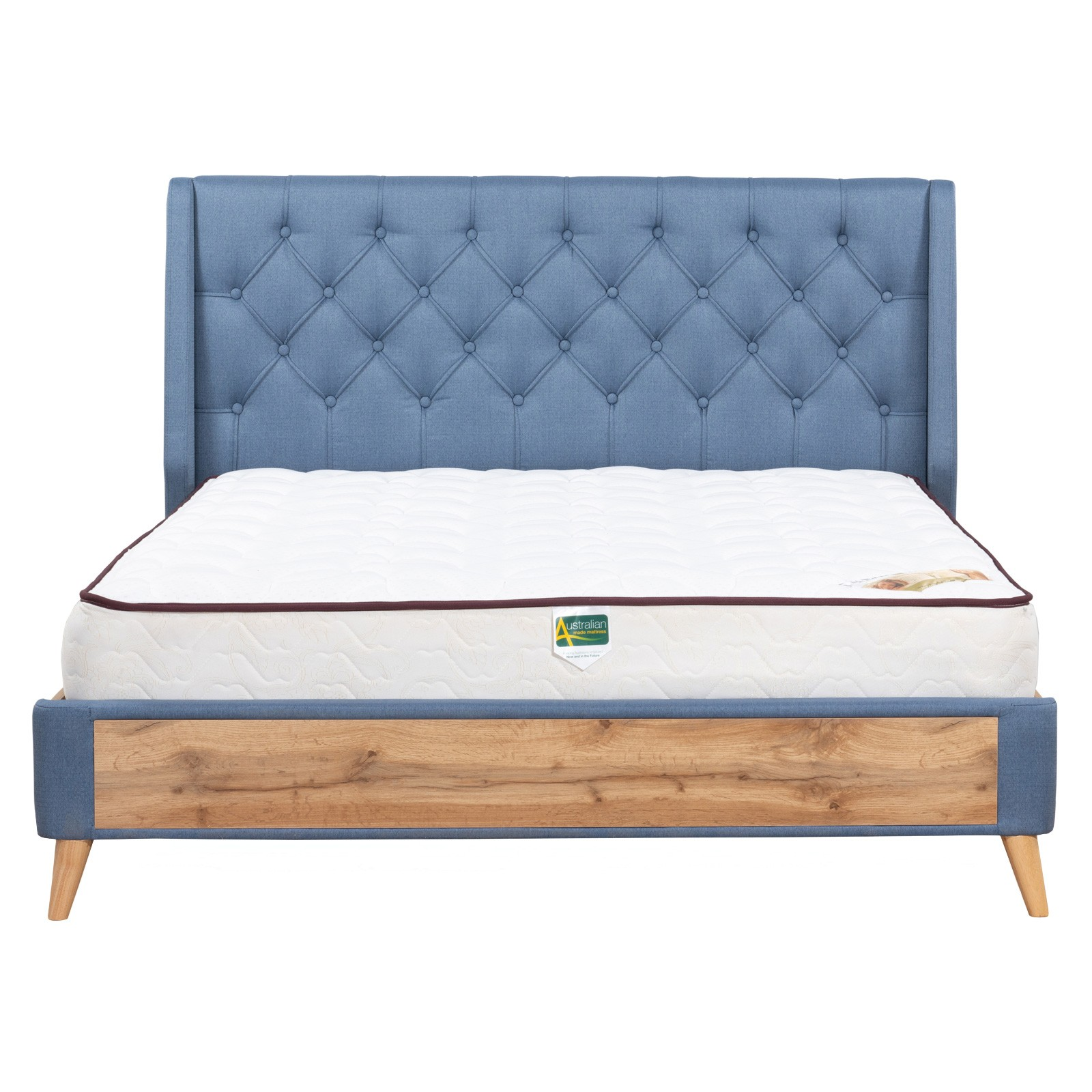 Charlie Fabric & Wood Platform Bed, Queen