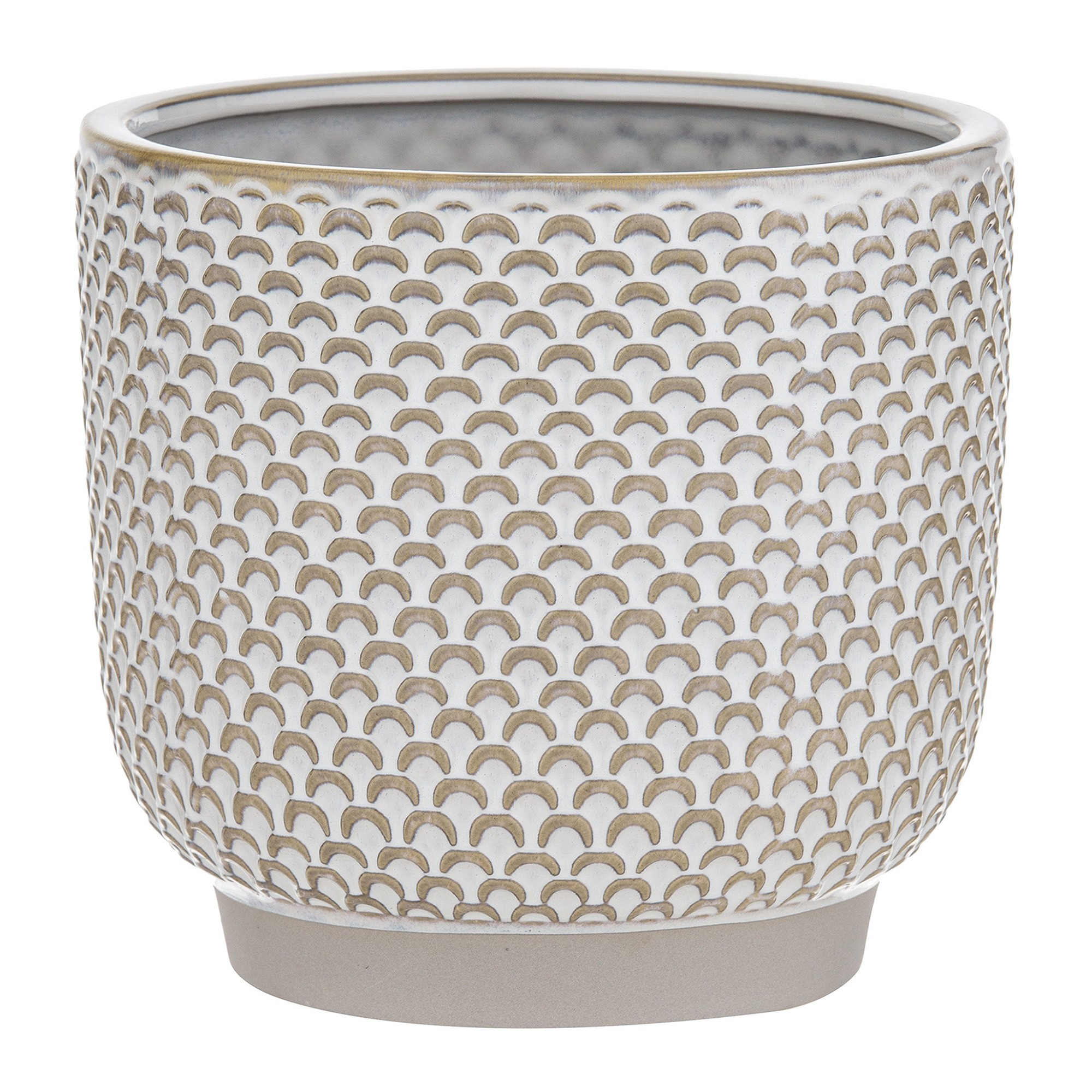 Alina Ceramic Pot, Cream