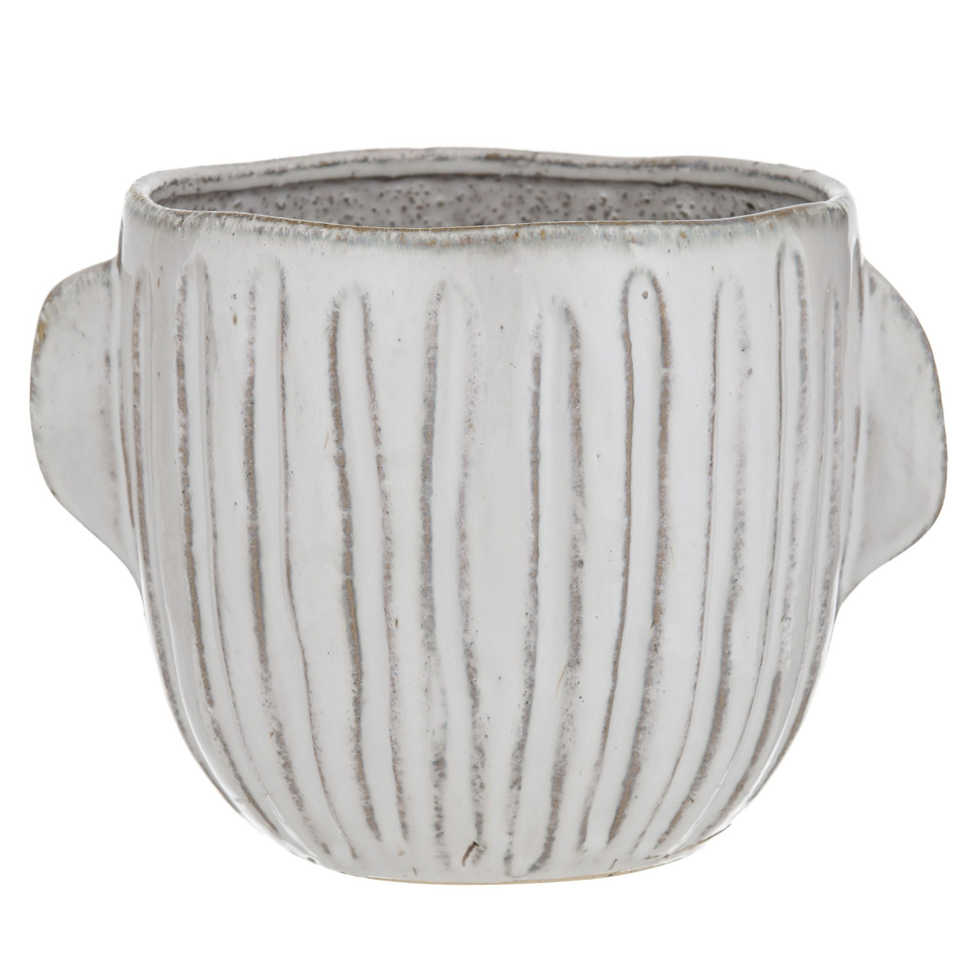 Teagan Ceramic Pot, Cream