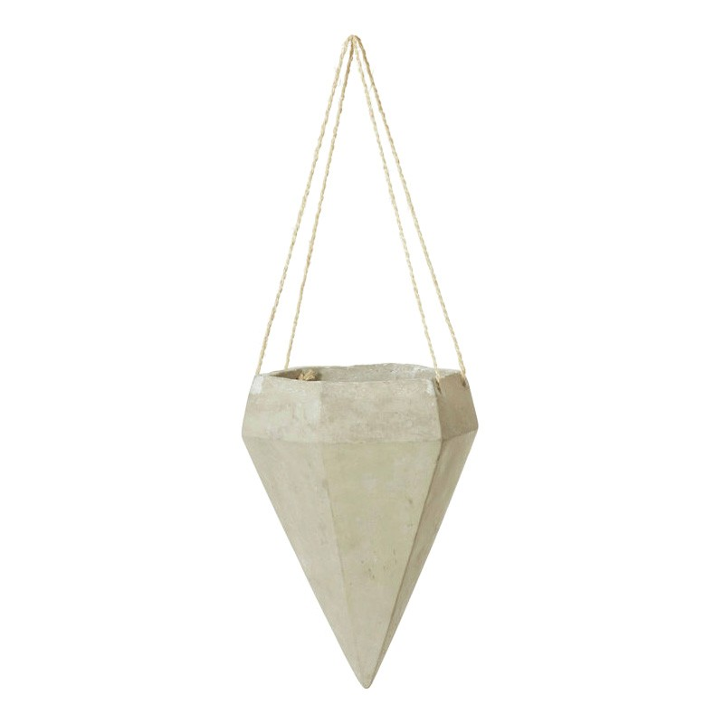 Cemetery Diamond Ceramic Hanging Pot Planter