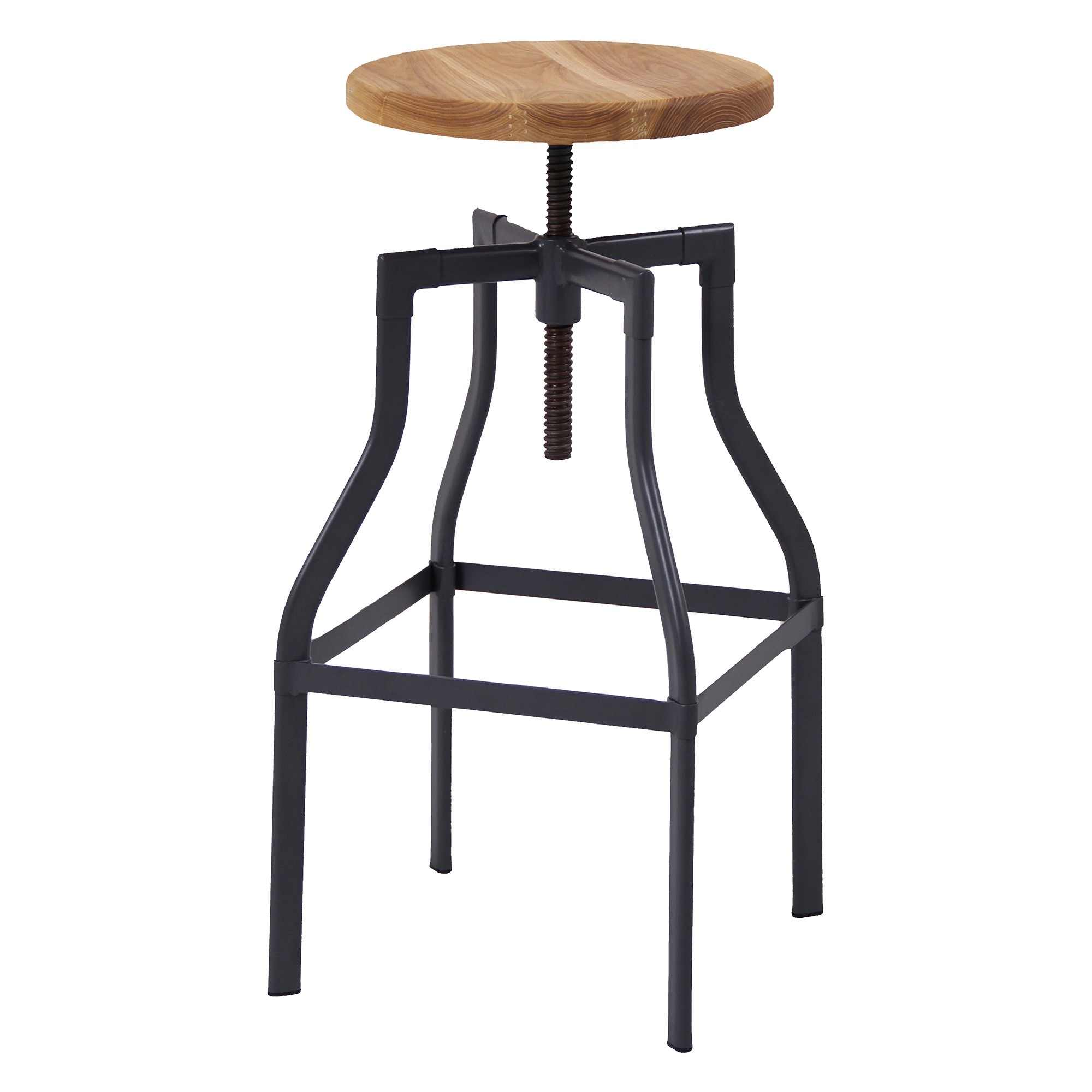 Stella Commercial Grade Industrial Adjustable Steel Counter / Bar Stool
