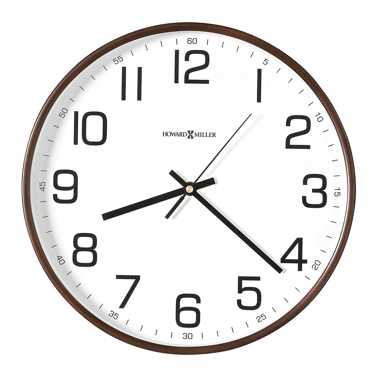Howard Miller Kenton Timber Round Wall Clock, 32cm