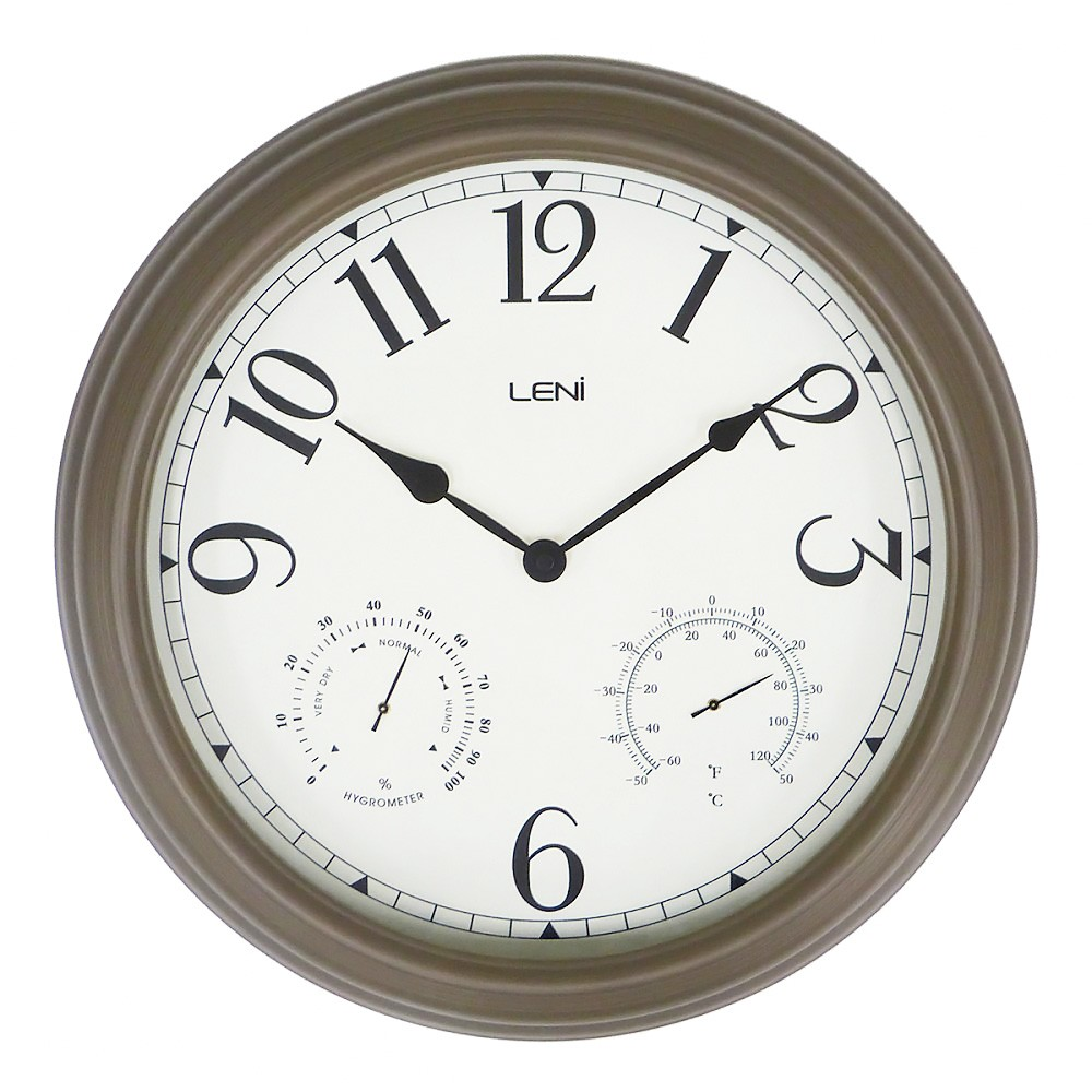 Leni Melville Metal Outdoor Round Wall Clock, 40cm