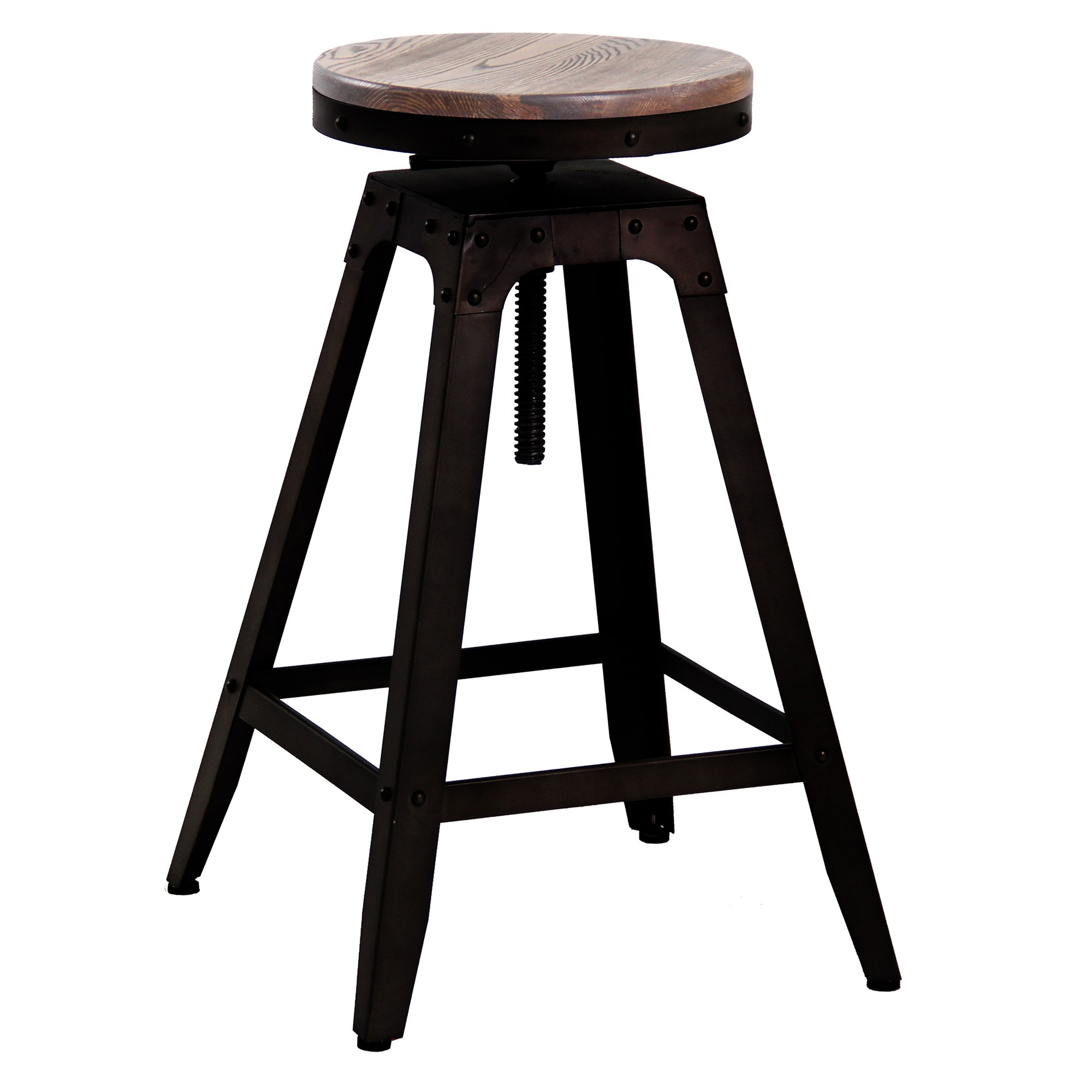 Elstow Commercial Grade Industrial Adjustable Steel Counter / Bar Stool