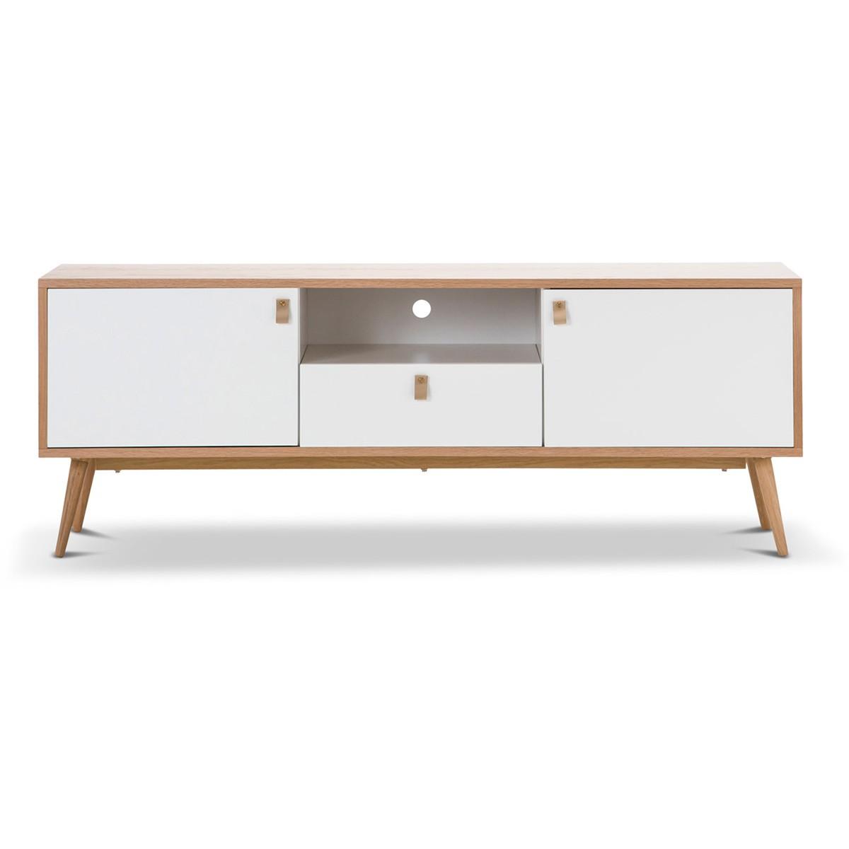 Liena Scandinavian Wooden Lowline TV Unit, 150cm