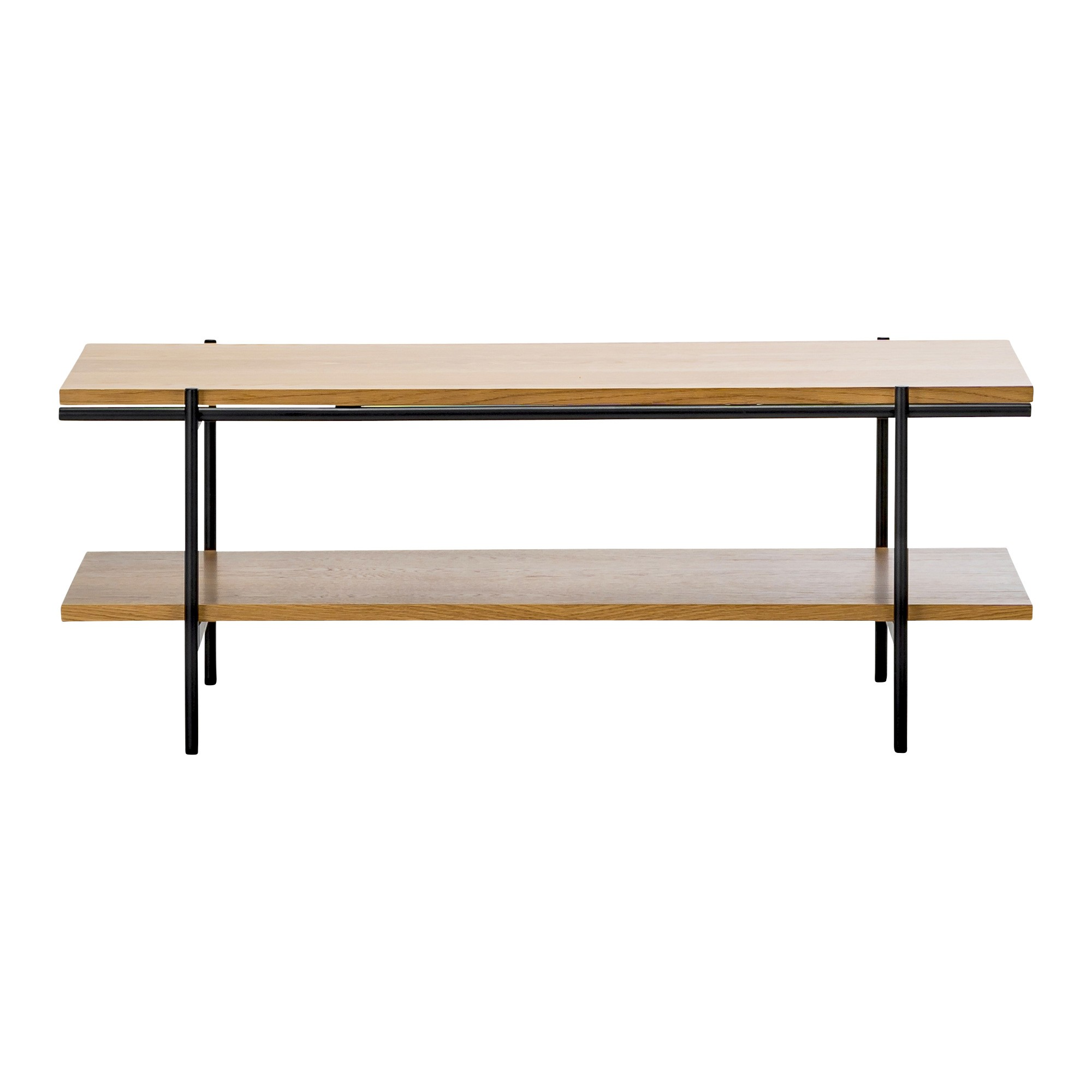 Xaviar Dual Shelf Coffee Table, 110cm, Oak / Black