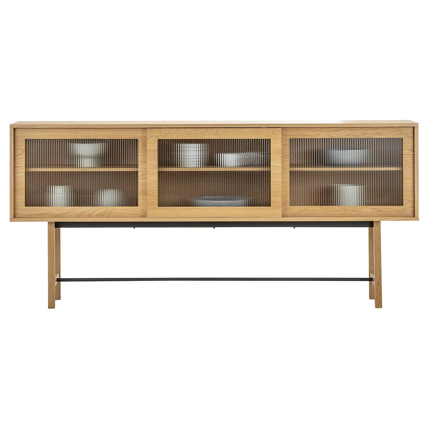Arae Sliding Door Sideboard, 210cm, Natural