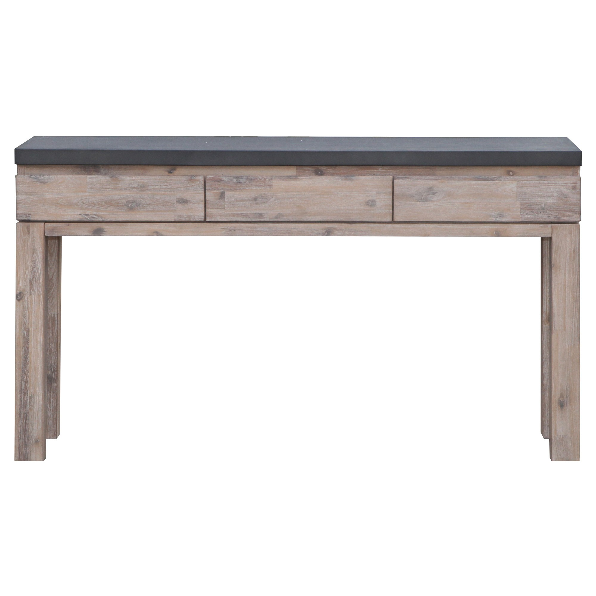 Pesaro Concrete Top Acacia Timber Sofa Table, 140cm