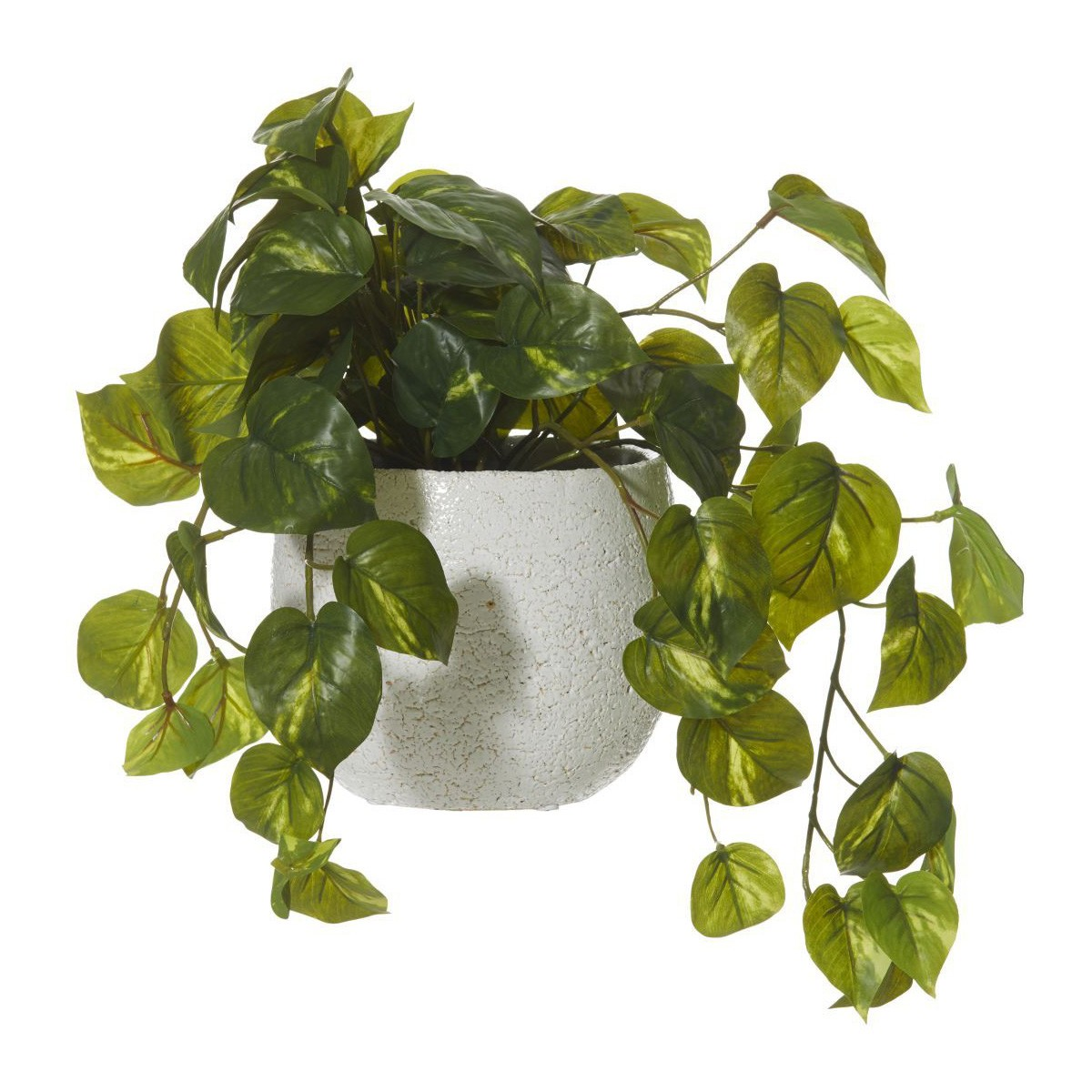 Artificial Hanging Pothos Plant in Tub Pot, 36cm