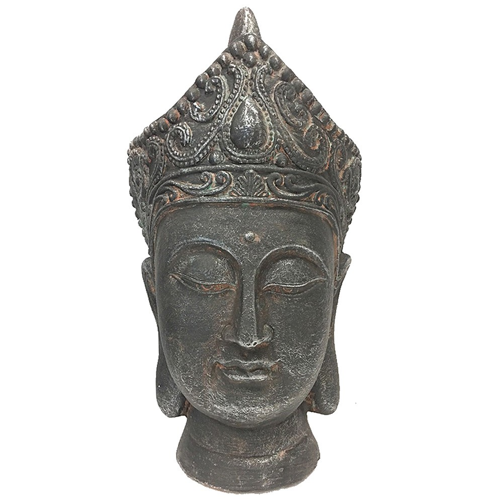 Polyresin Buddha Head Statue Decor