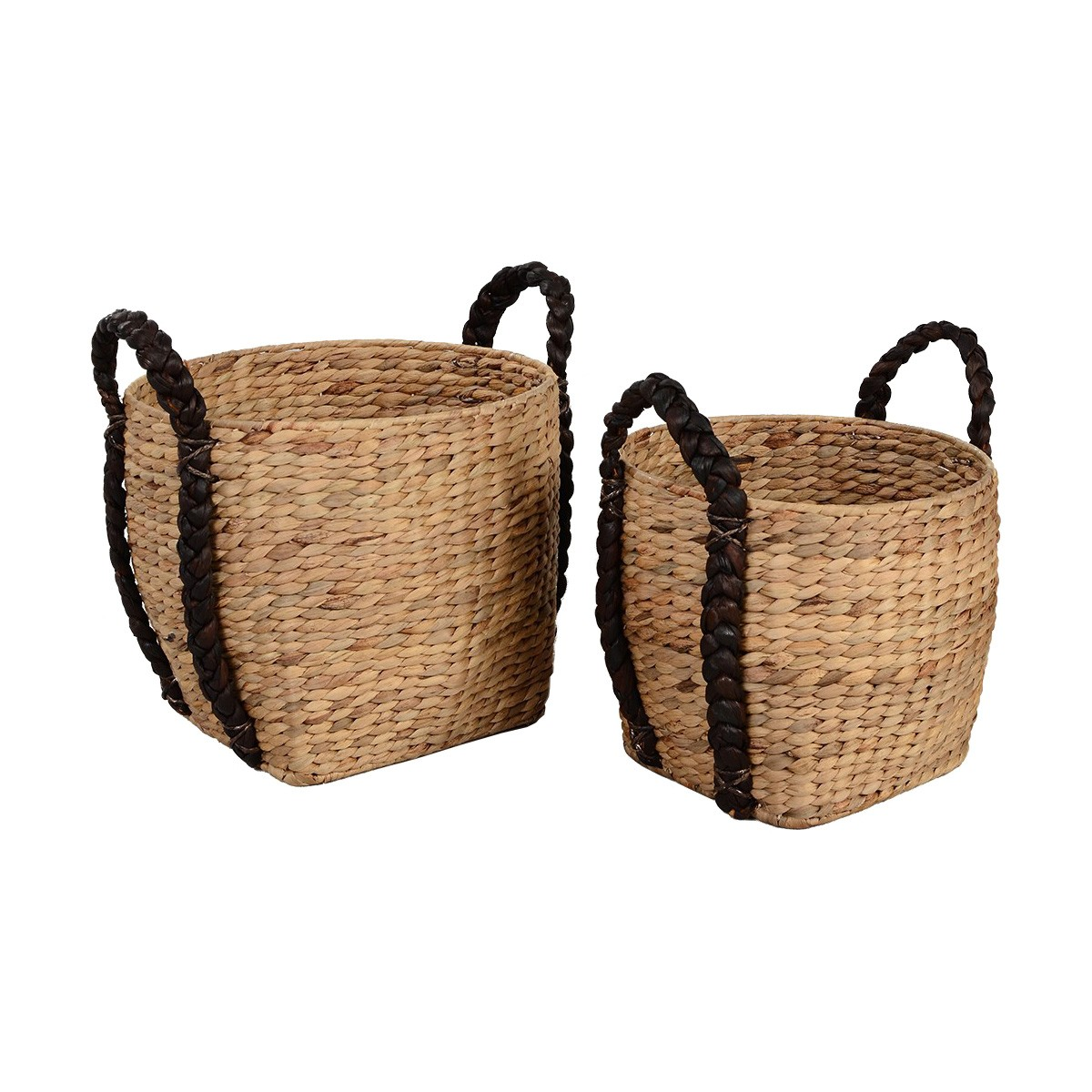 Juara 2 Piece Woven Water Hyacinth Basket Set