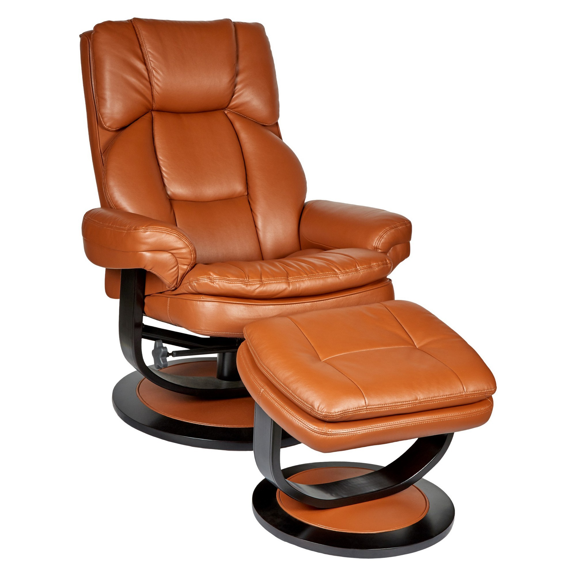 Andrew PU Leather Lounge Armchair & Footrest Set