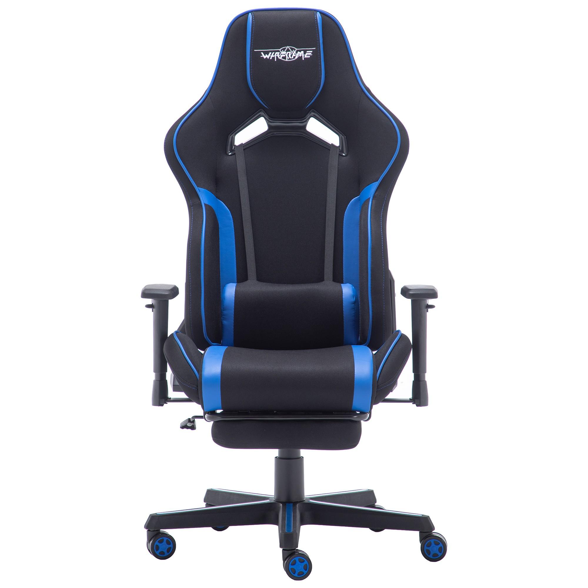 WarFrame Iron Man Gaming Chair, Black / Blue
