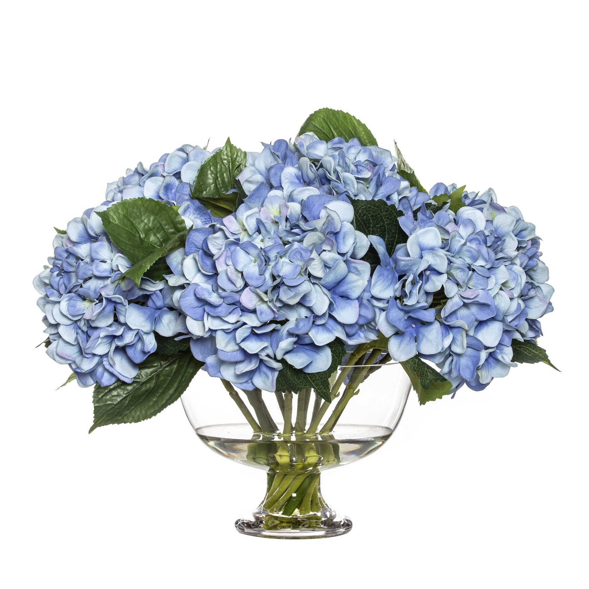 Artificial Hydrangea in Dahlia Bowl