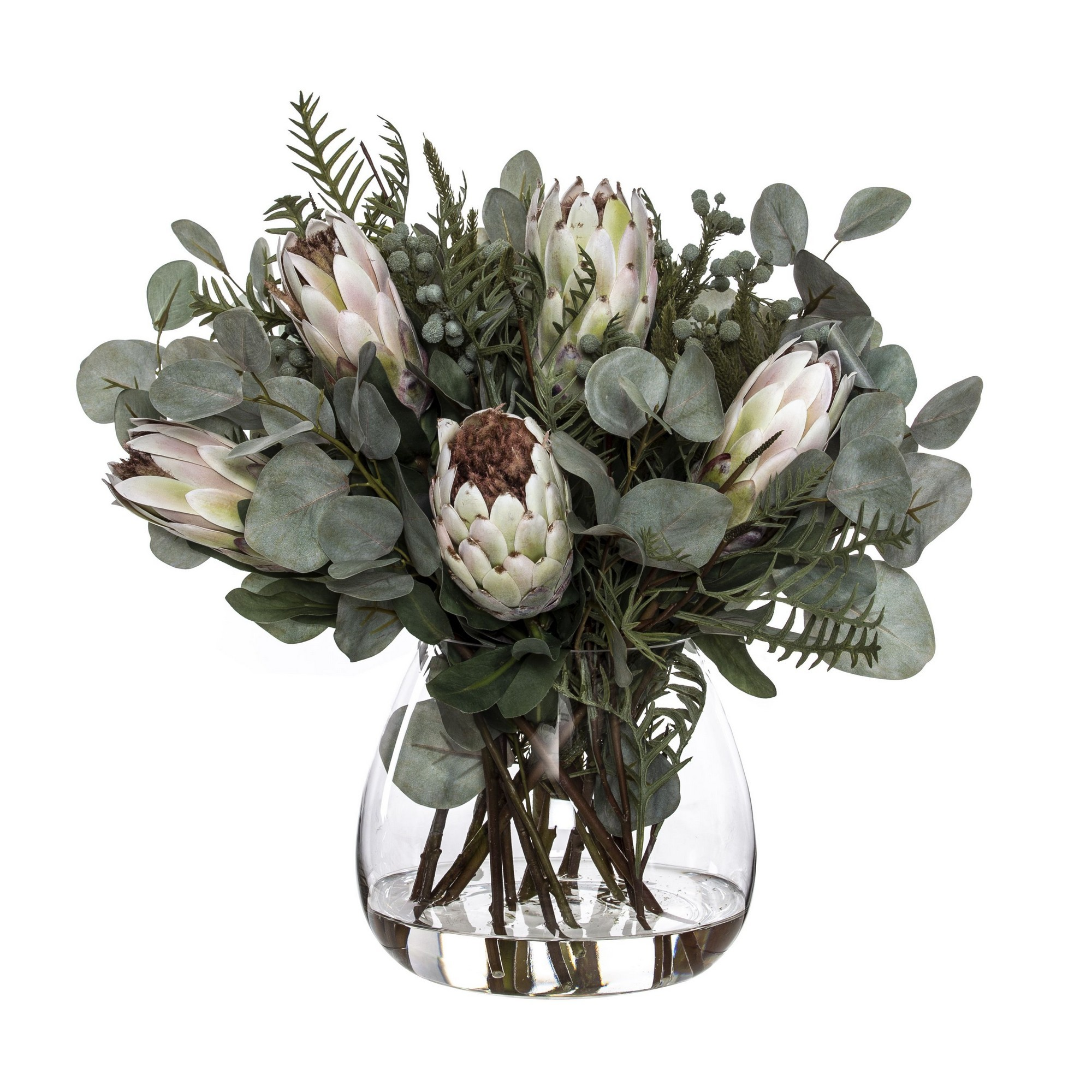 Artificial Native Protea Mix in Garden Vase