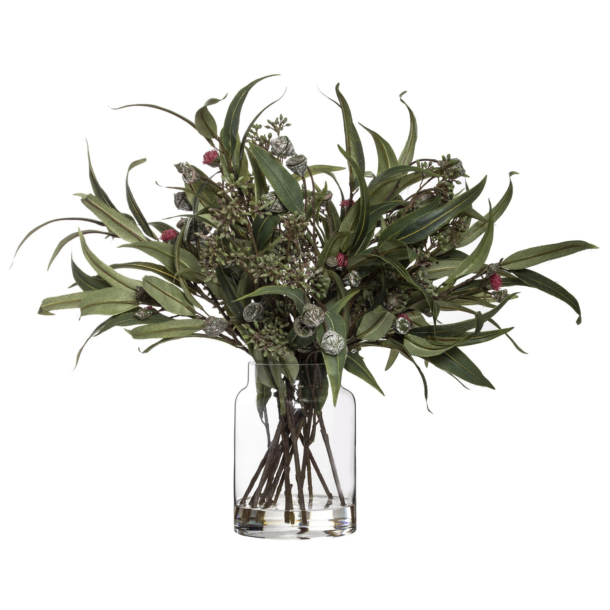 Artficial Native Foliage Mix in Pail Vase