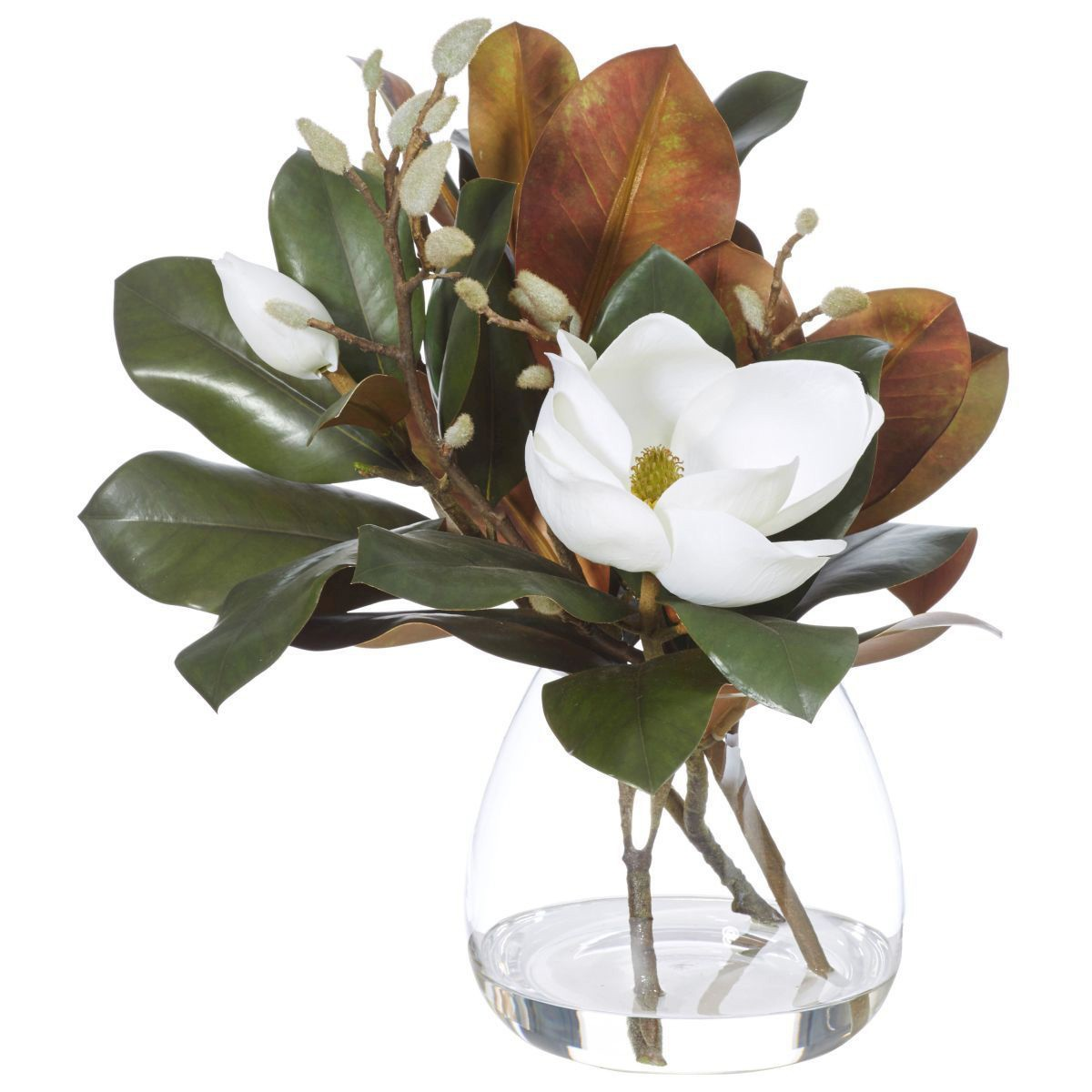 Artificial Magnolia Mix in Garden Vase