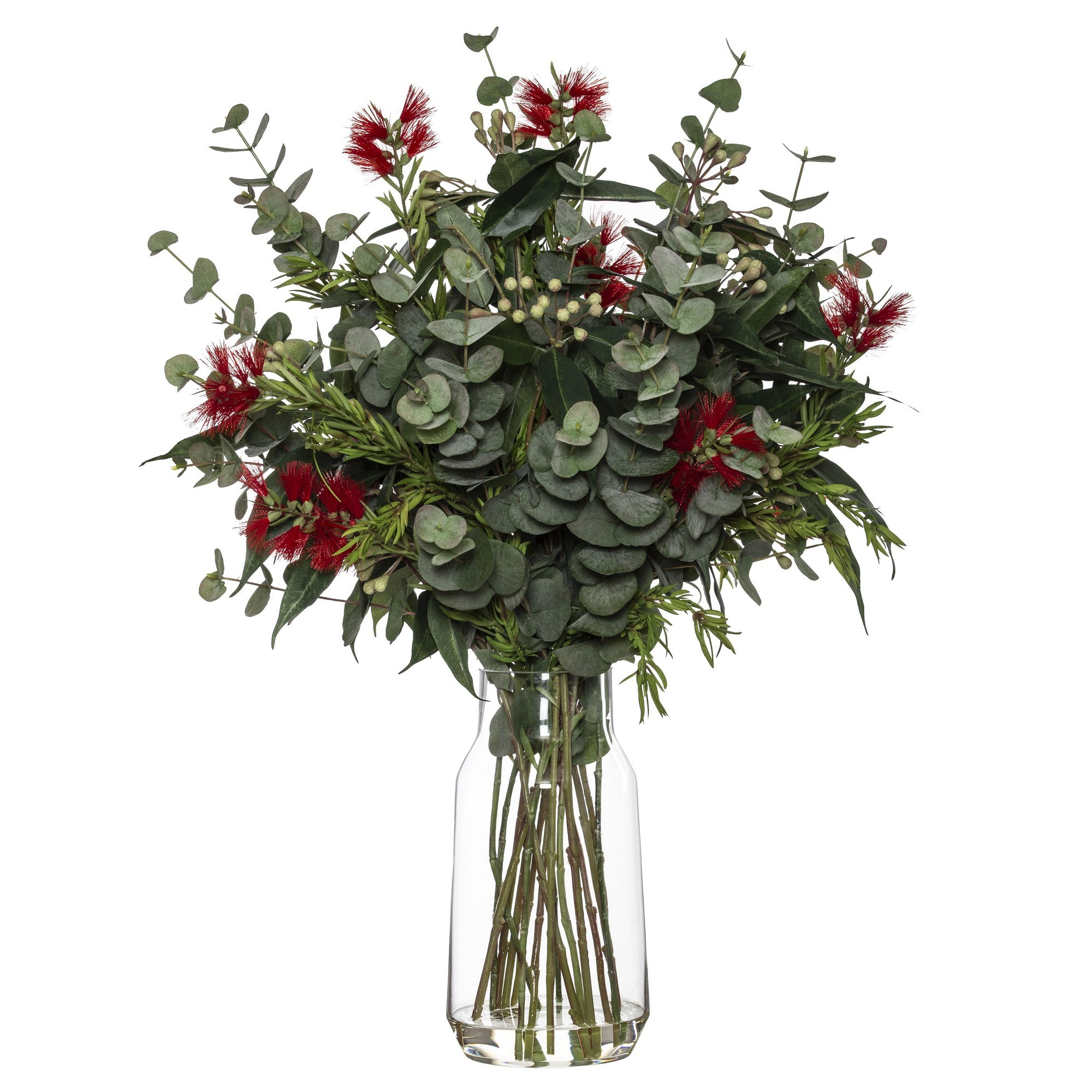 Artificial Australiana Mix in Audrey Vase, Red Flower