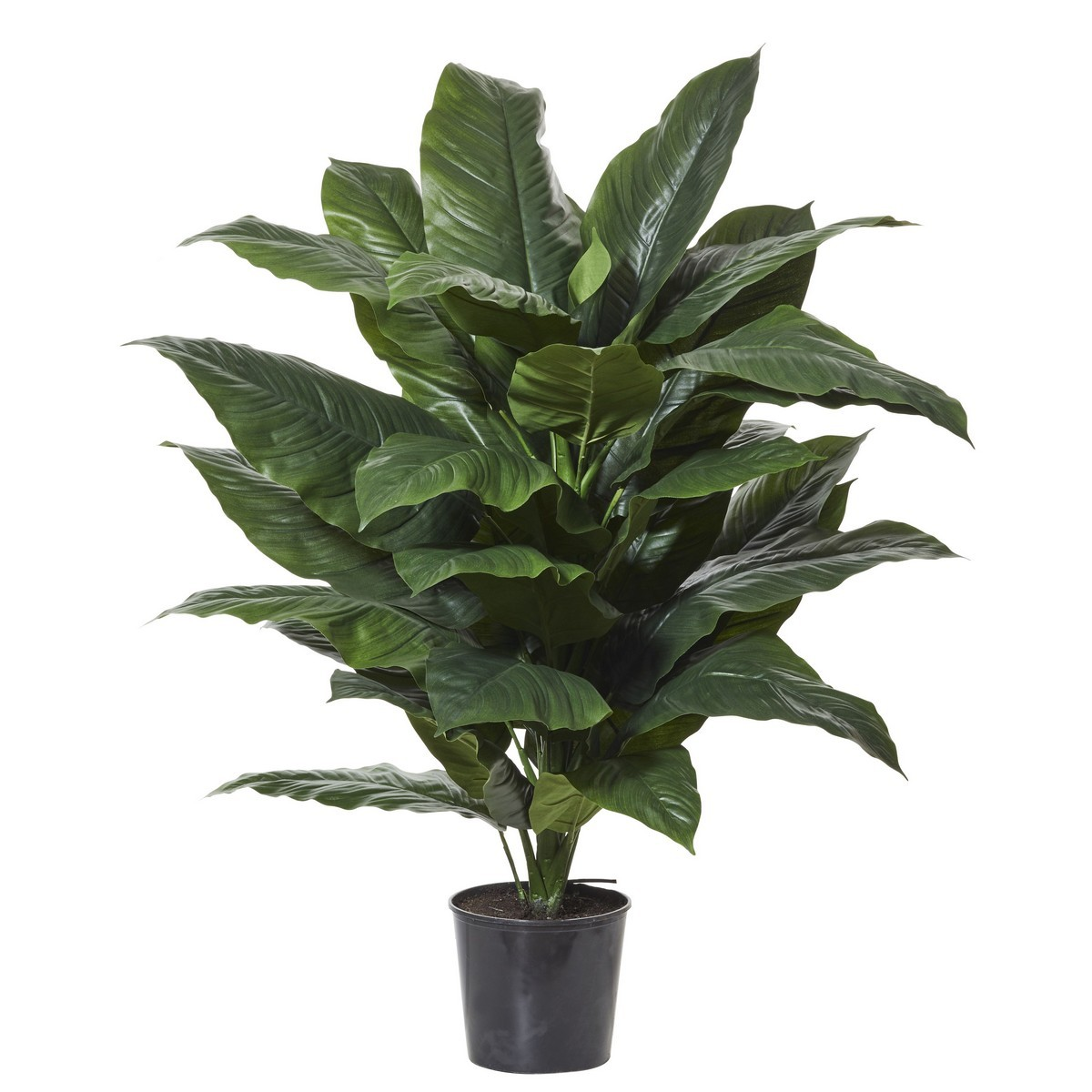 Potted Artificial Giant Spathiphyllum, 128cm
