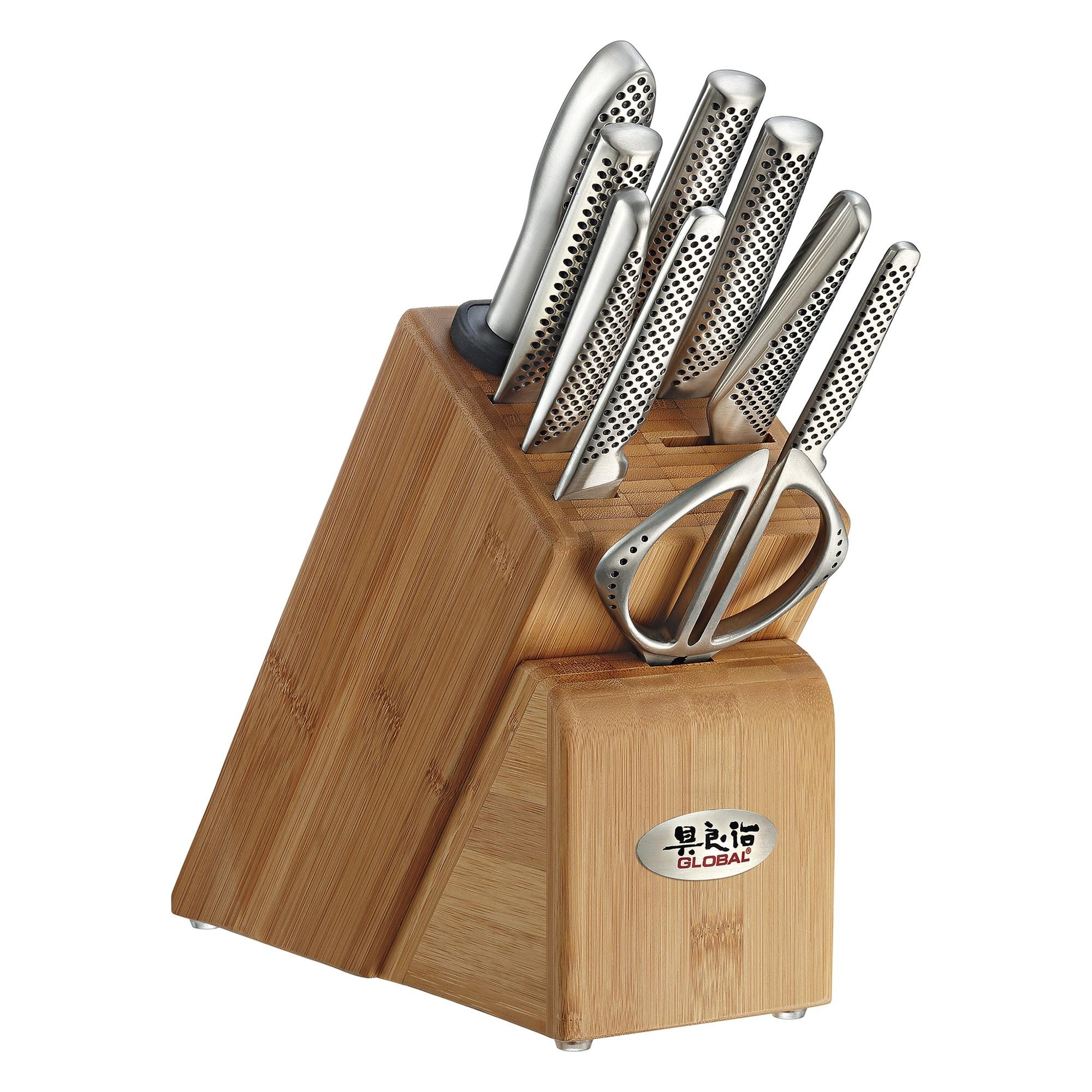 Global Takashi 10 Piece Knife Block Set