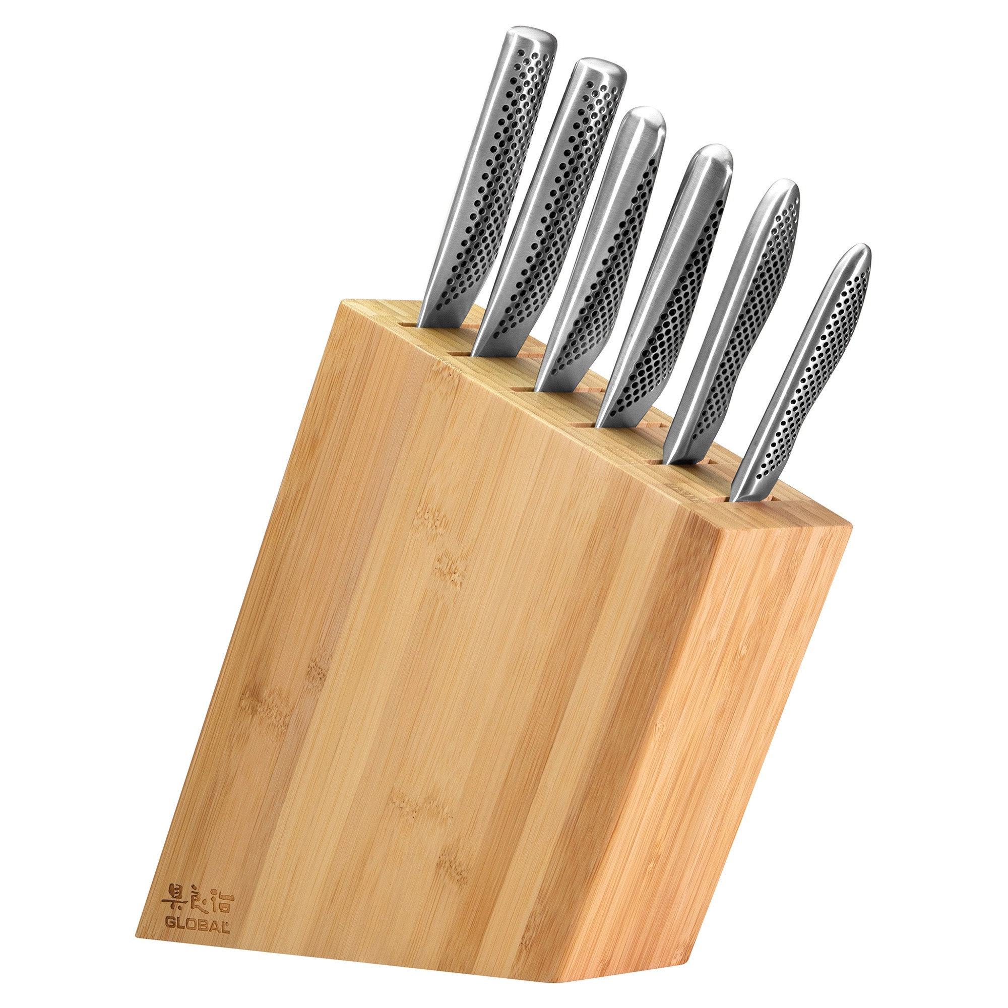 Global Kyoto 7Piece Knife Block Set, Bamboo