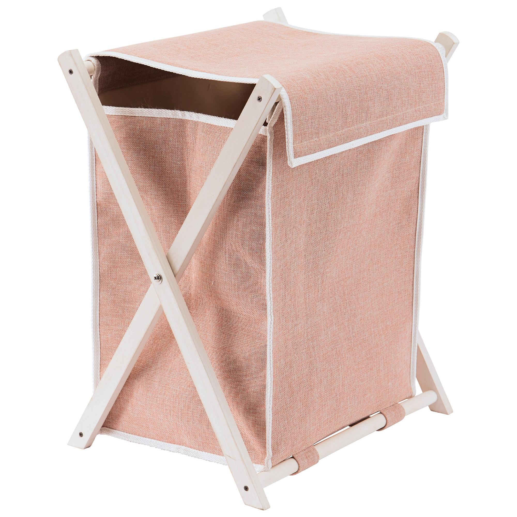 Aquanova Dali Fabric Laundry Basket, Blush