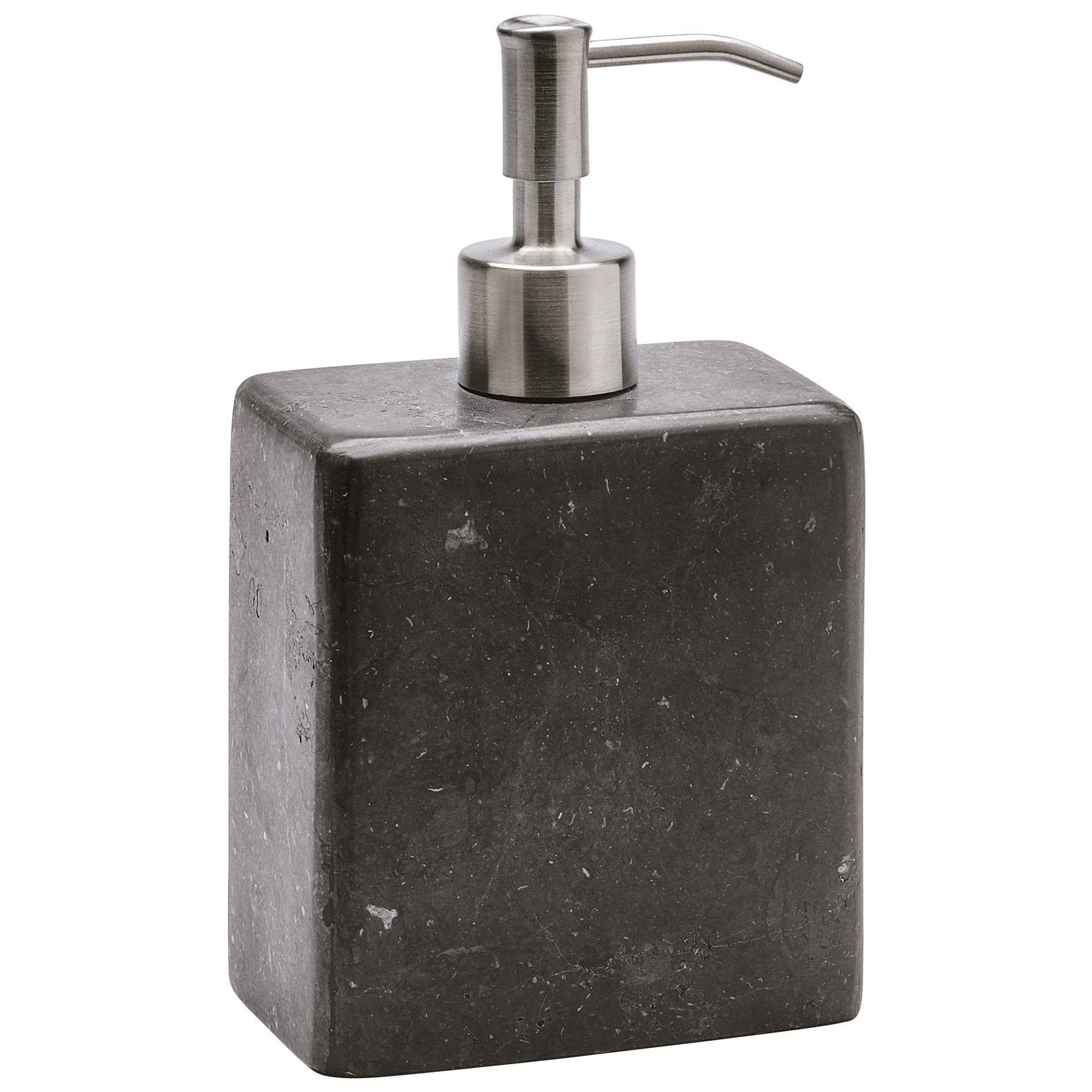 Aquanova Hammam Natural Stone Soap Dispenser, Medium, Dark Grey