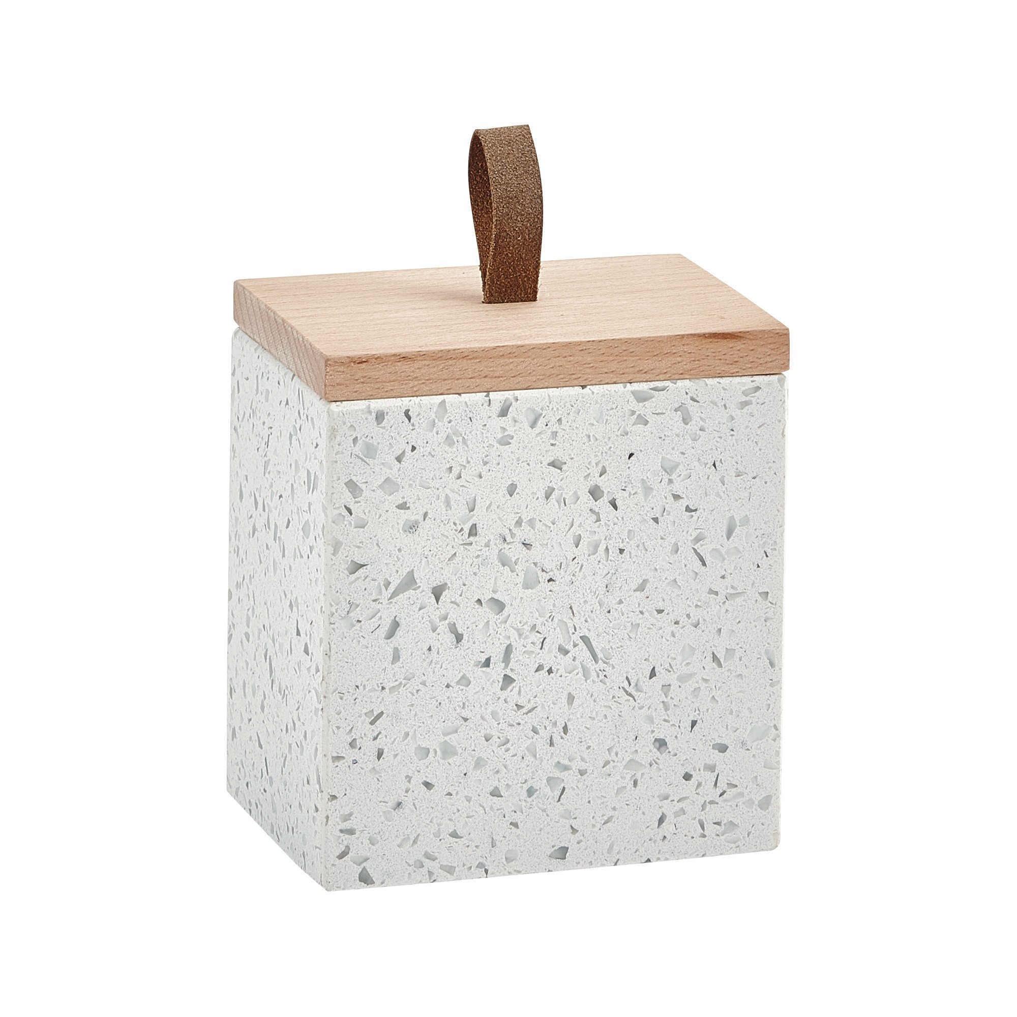 Aquanova Quartz Terrazzo Beauty Box, White