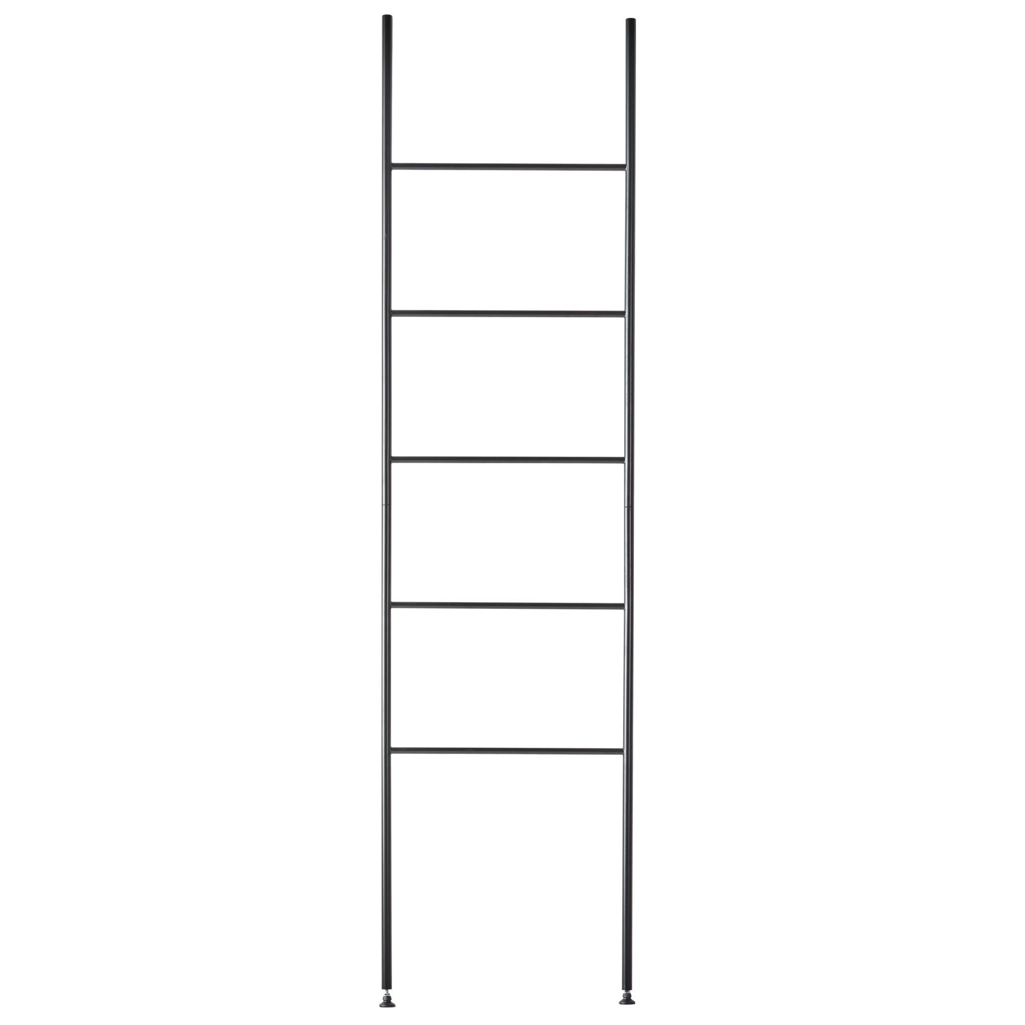 Aquanova Icon Metal Towel Ladder Rack, Black