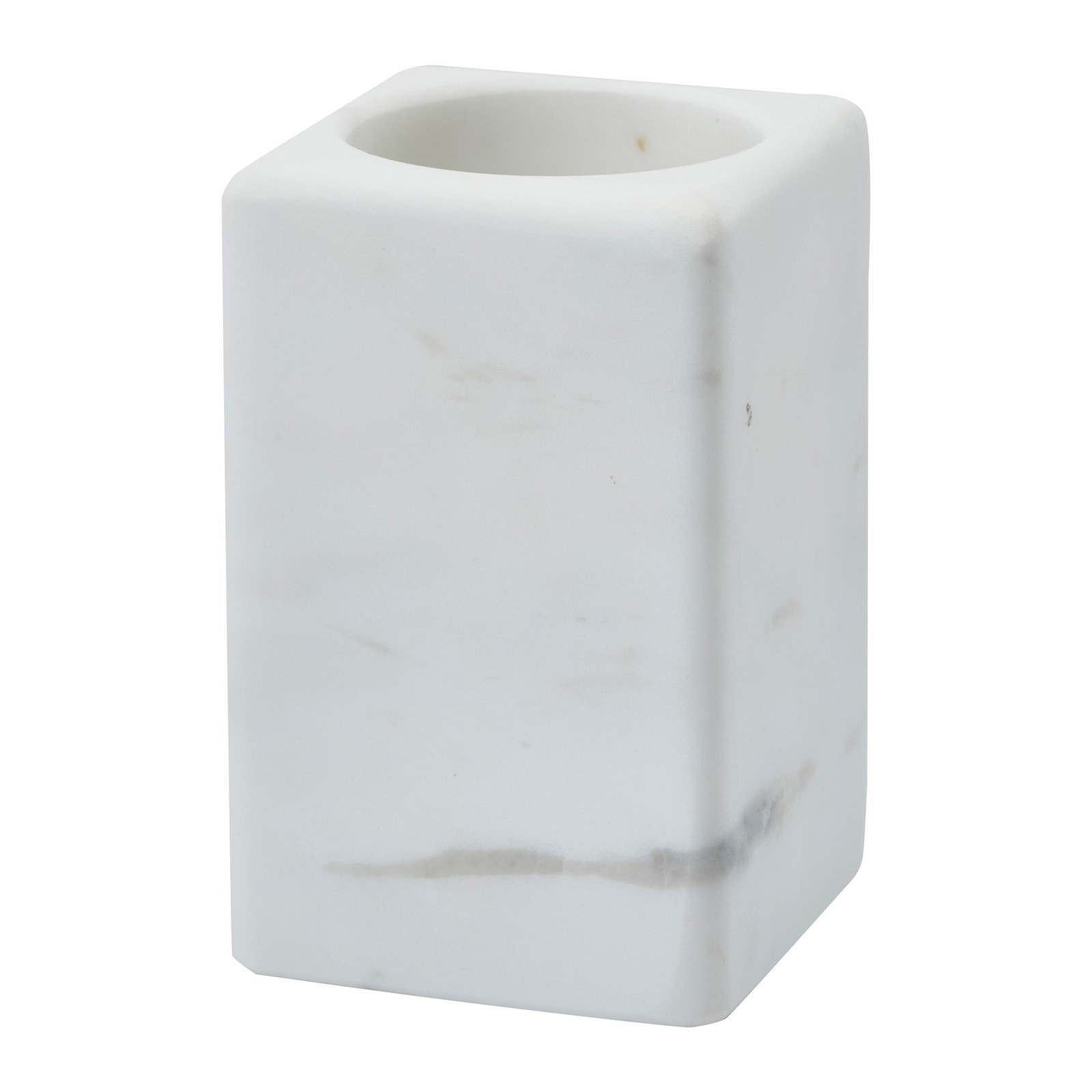 Aquanova Hammam Natural Stone Toothbrush Holder, White